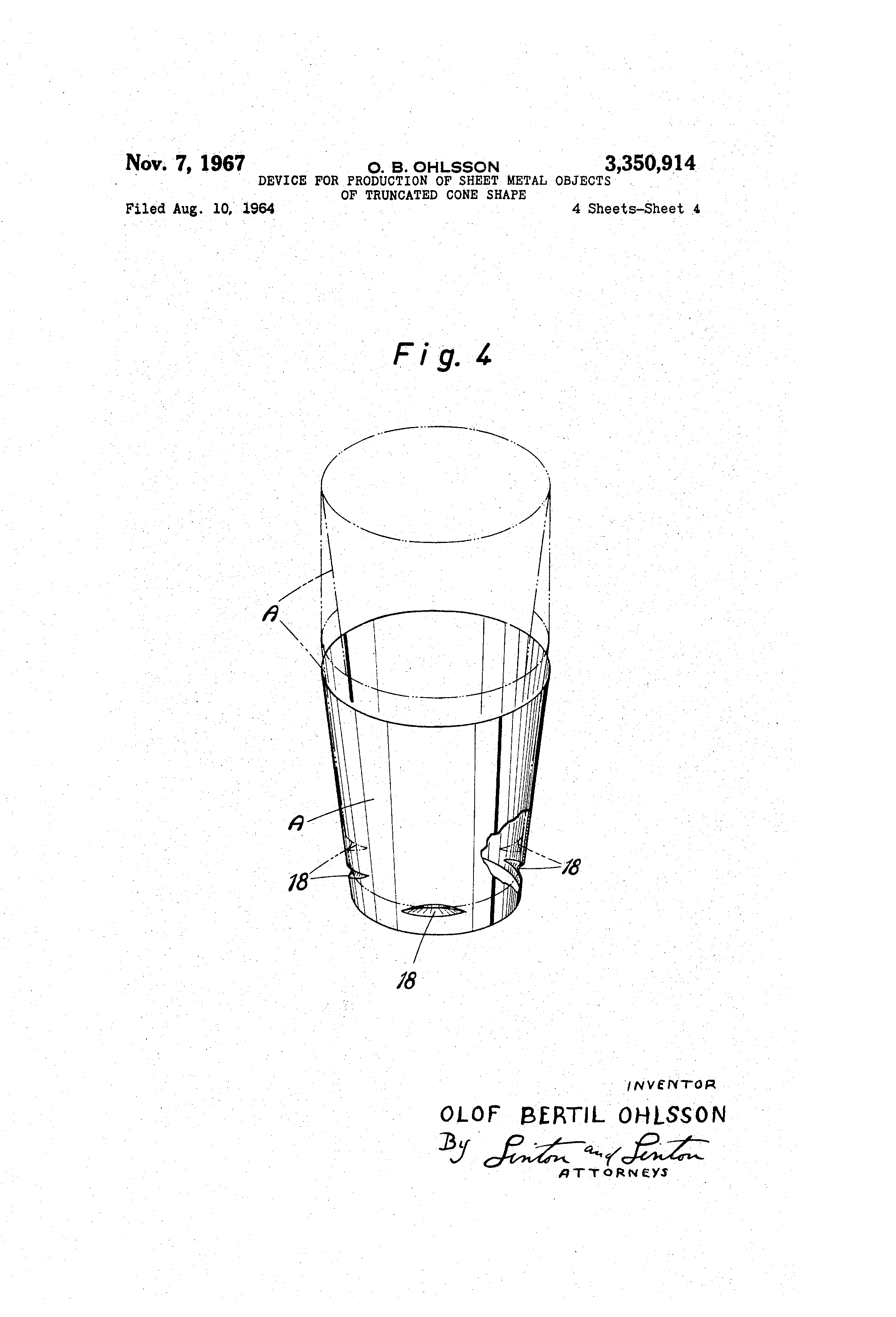 Patent Us3350914 Device For Production Of Sheet Metal