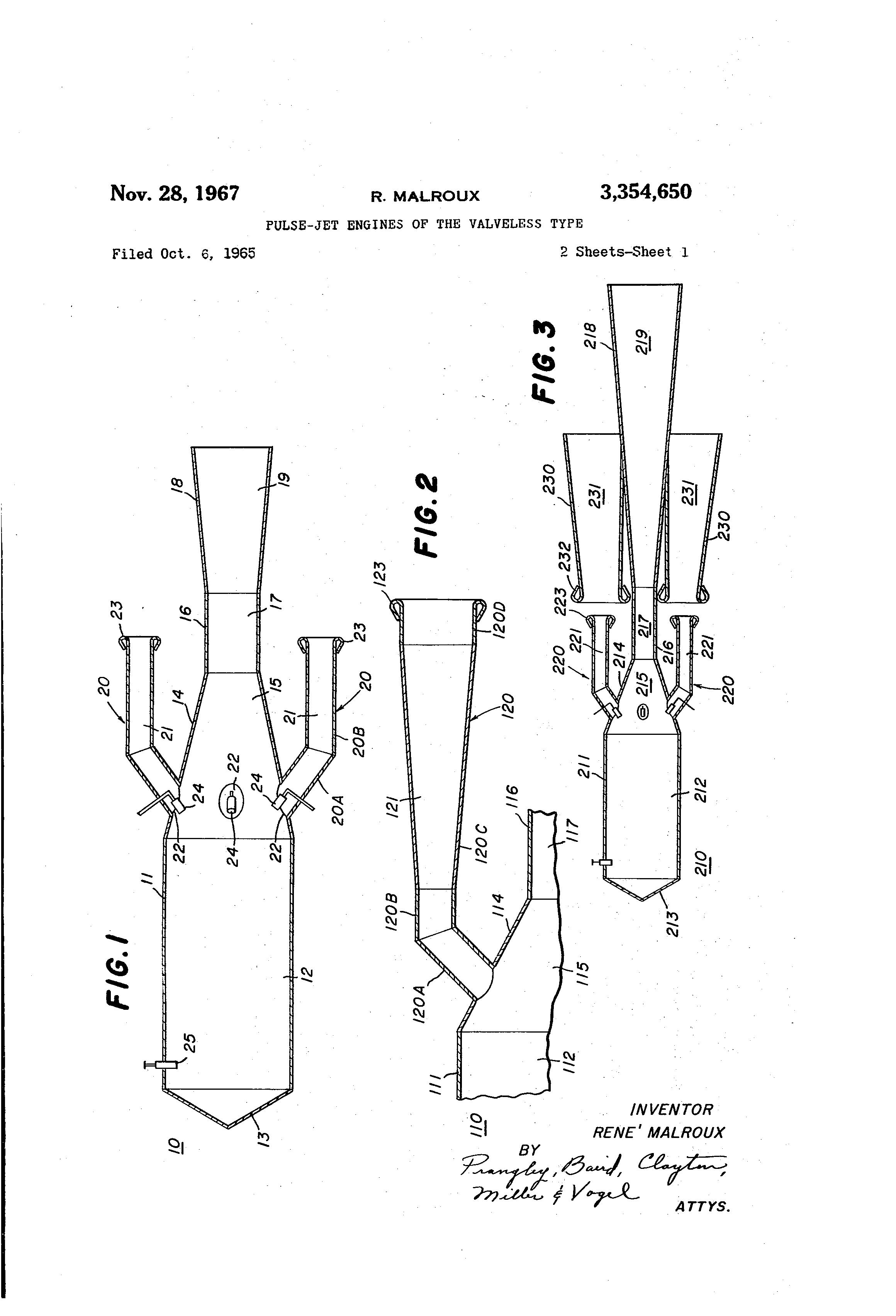 patent us3354650 - pulse-jet engines of the valveless type
