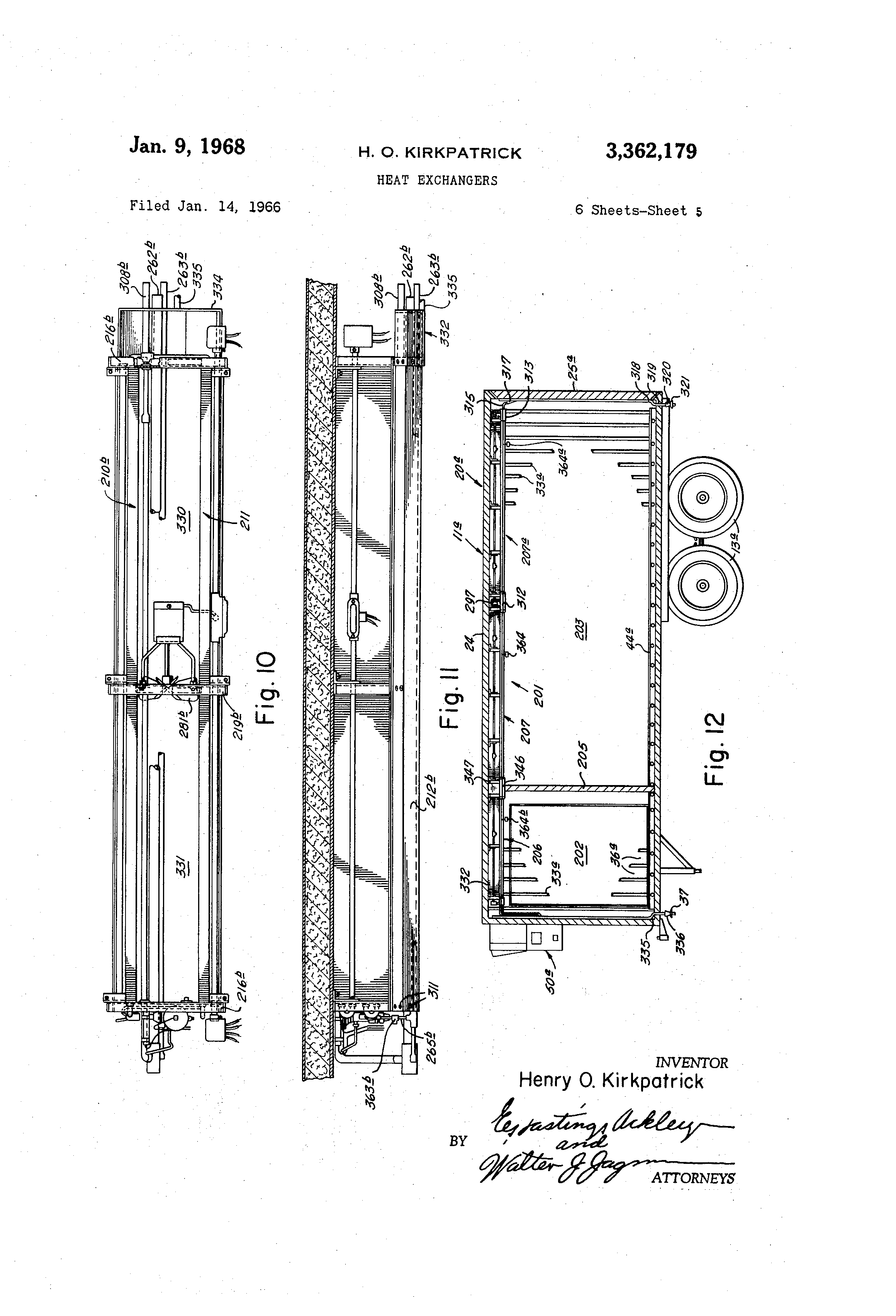 Patent Us3362179 Heat Exchangers Google Patents 7 Way Trailer Plug Wiring Diagram Contrail Triler Drawing