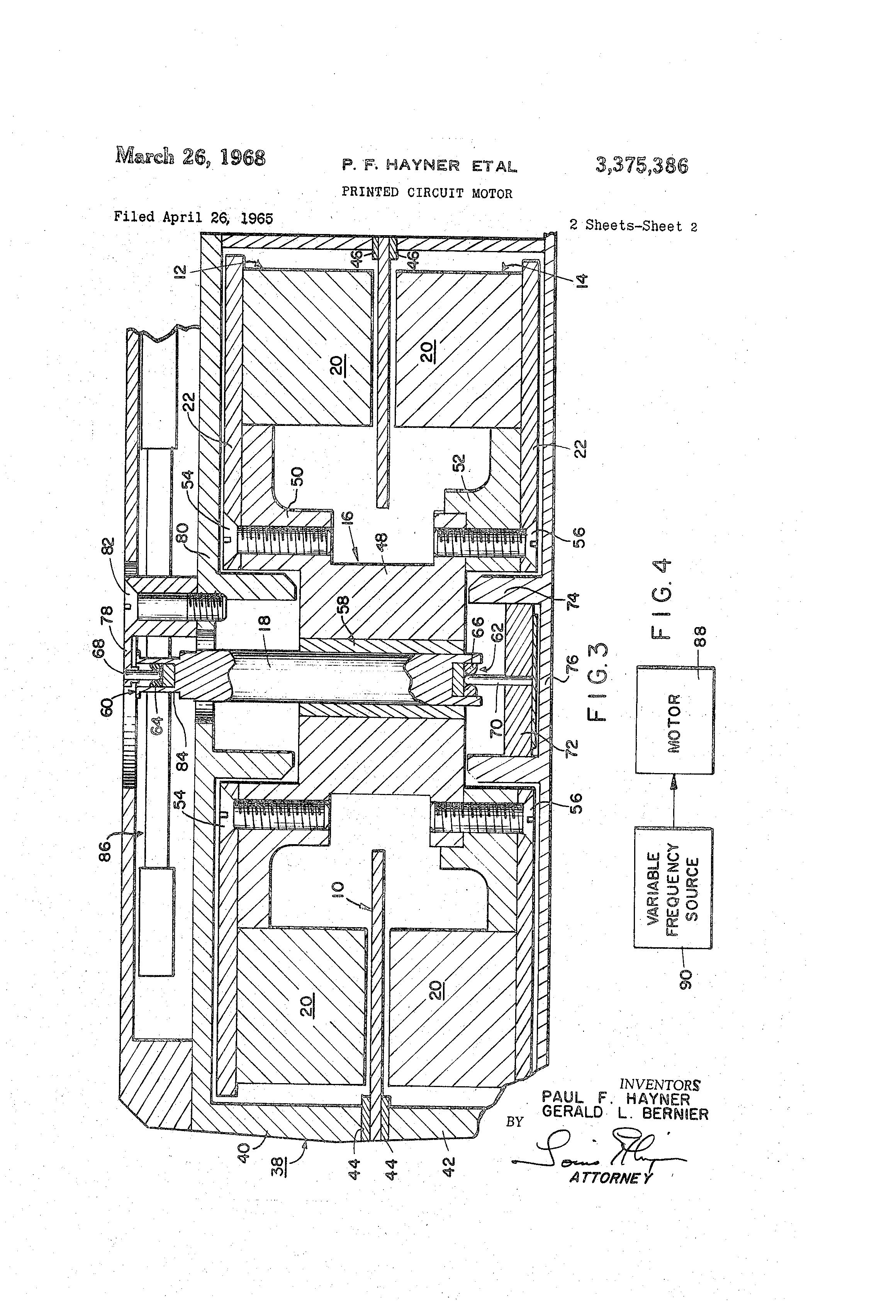 patent us3375386 - printed circuit motor