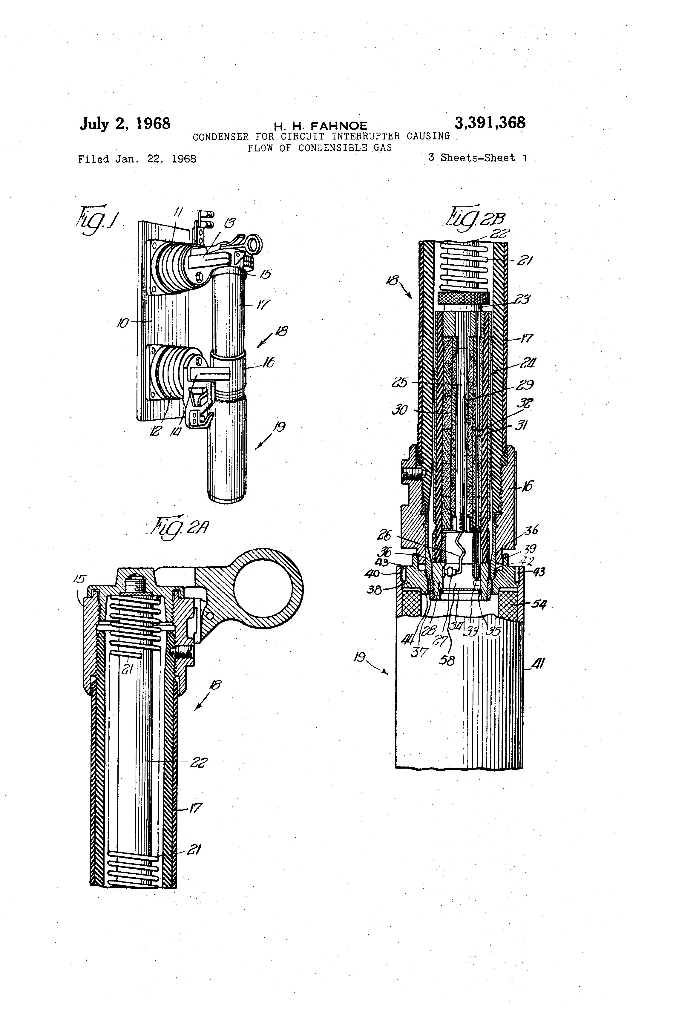 Brevet Us3391368 Condenser For Circuit Interrupter Causing Flow Of Photointerruptercircuitpng Patent Drawing