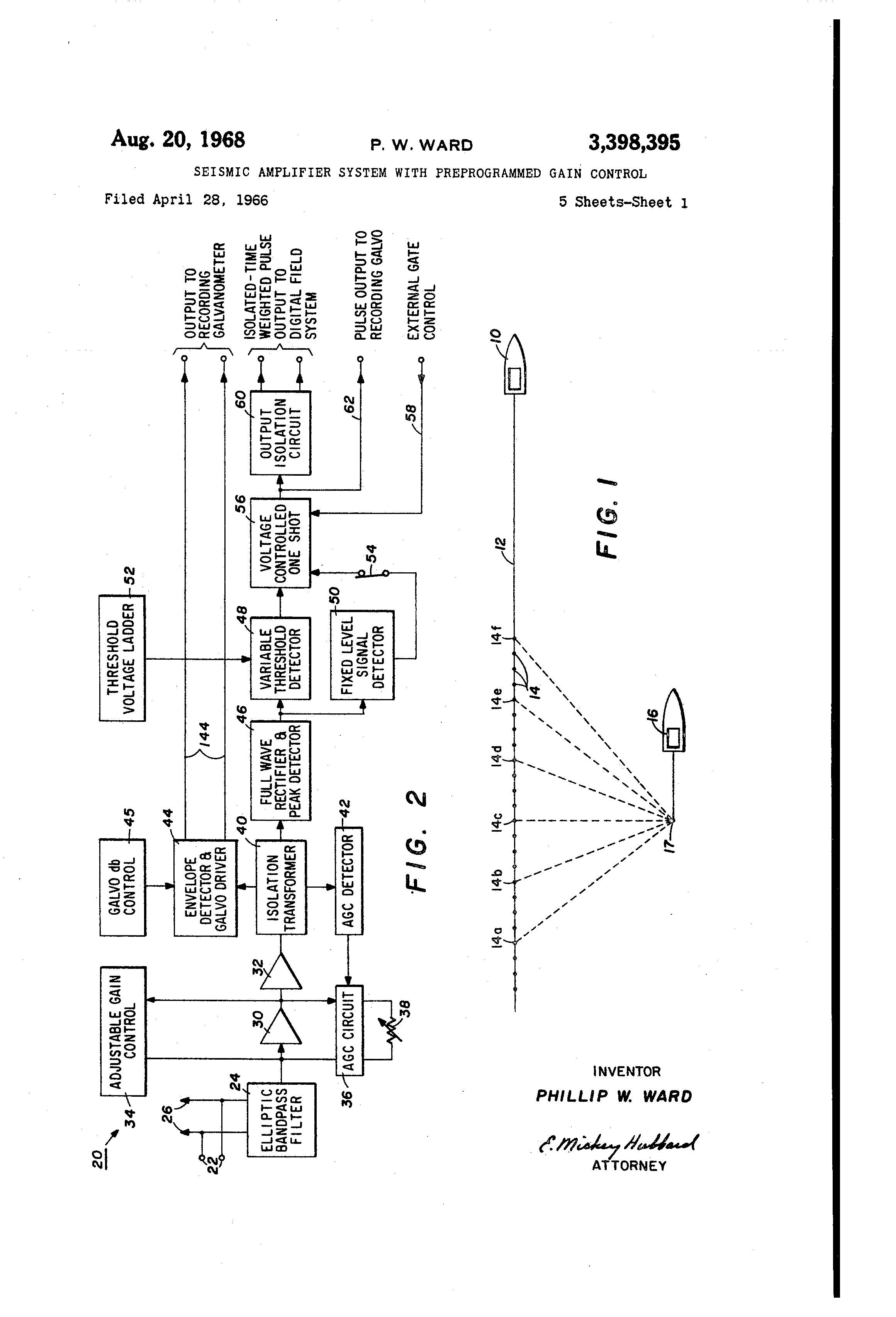 Patent Us3398395 Seismic Amplifier System With Preprogrammed Gain Variableresistorcontrolled Regenerative Receiver Circuit Diagram Drawing