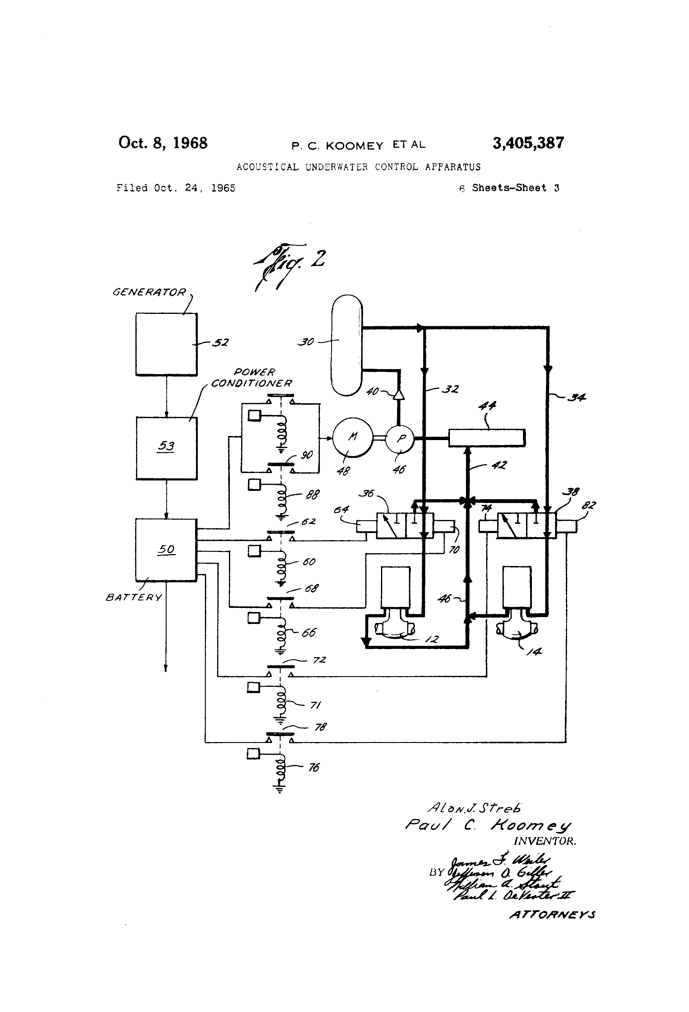 Patent US3405387 - Acoustical underwater control apparatus - Google on