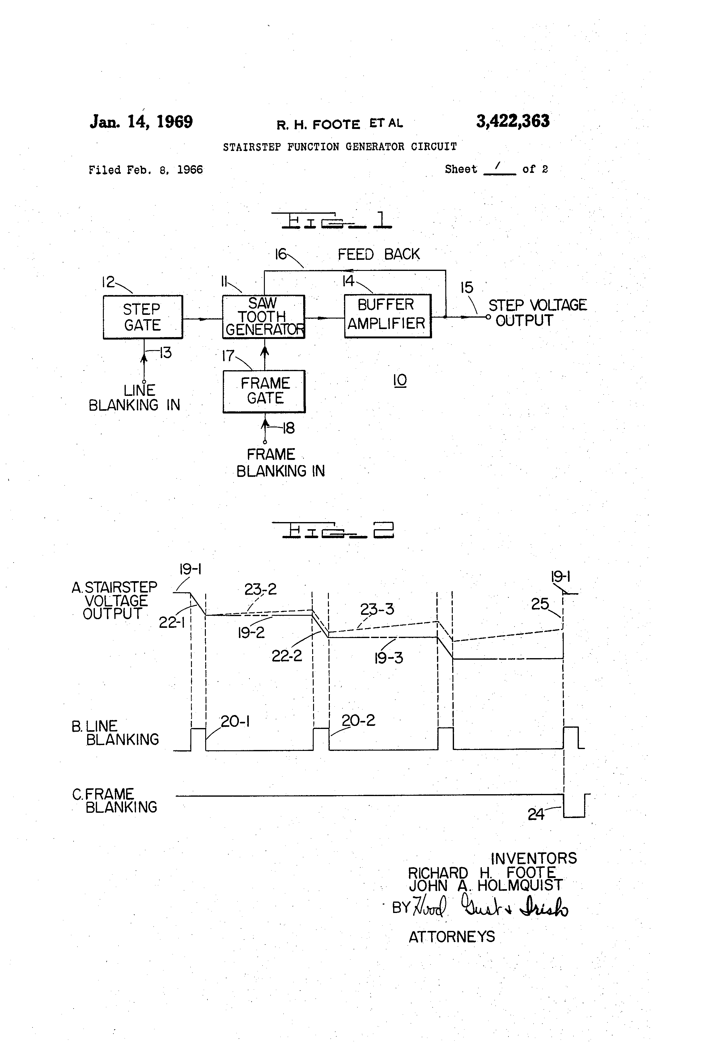 Brevet Us3422363 Stairstep Function Generator Circuit Google Brevets Diagram Pictures Patent Drawing
