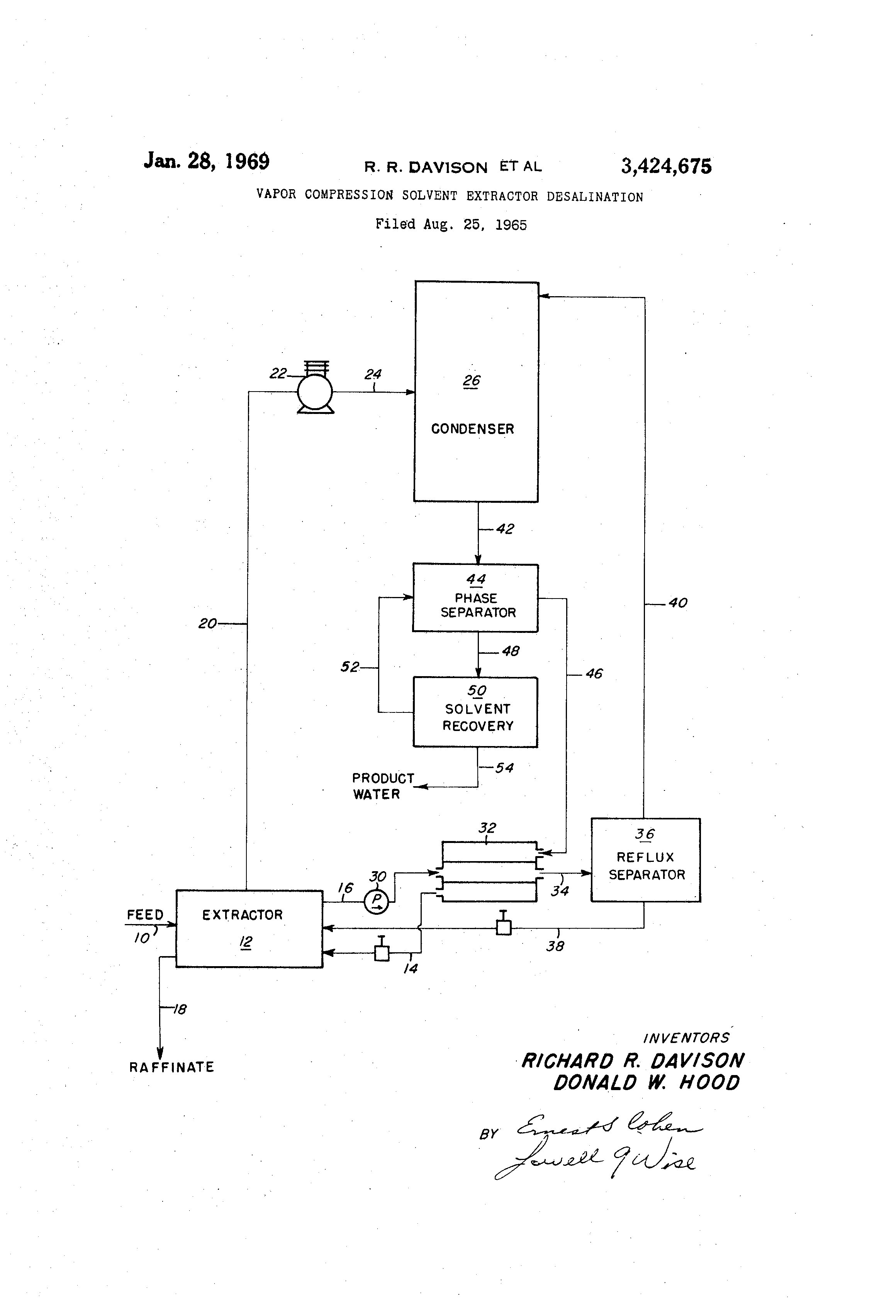 Patent US Vapor pression solvent extractor