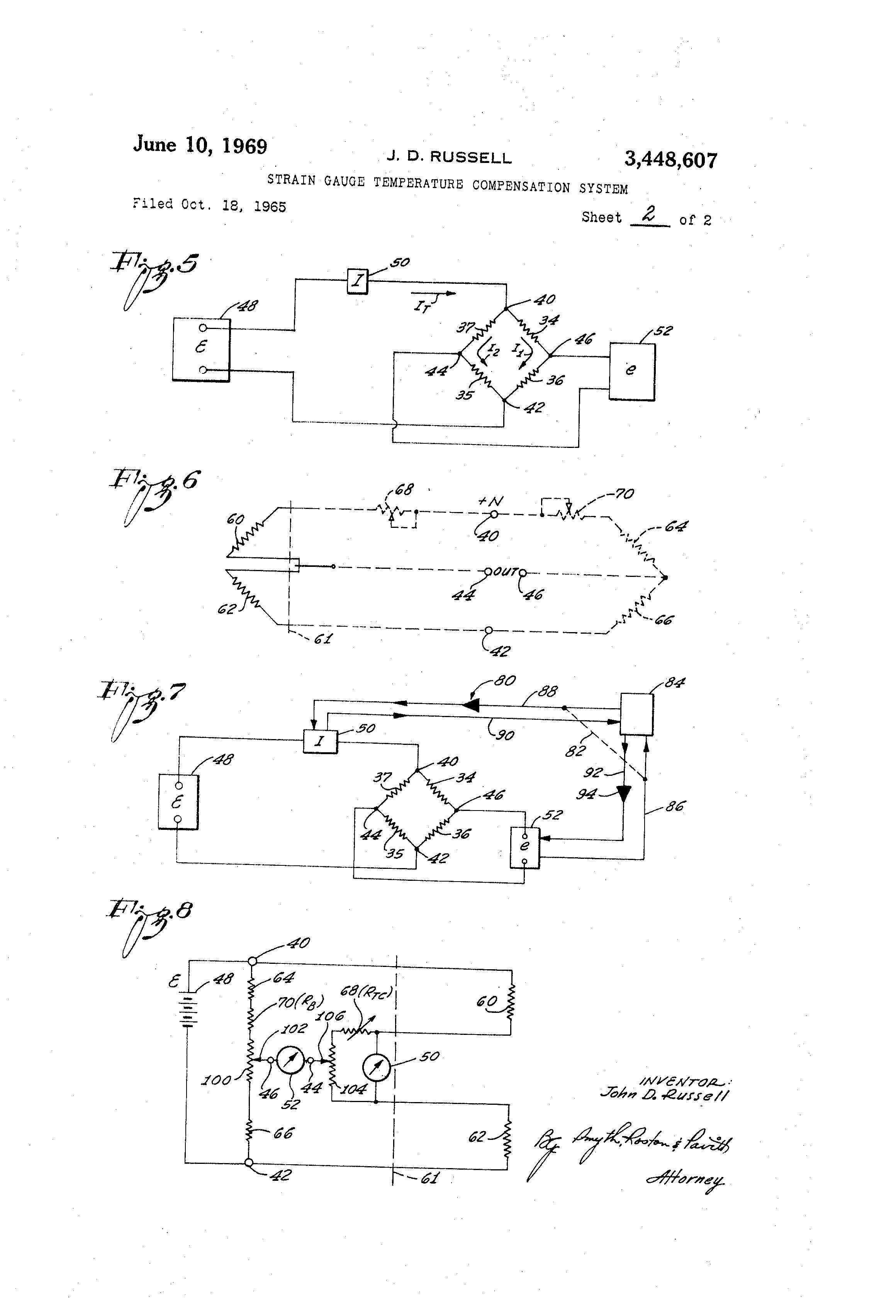 Patent Us3448607 - Strain Gauge Temperature Compensation System