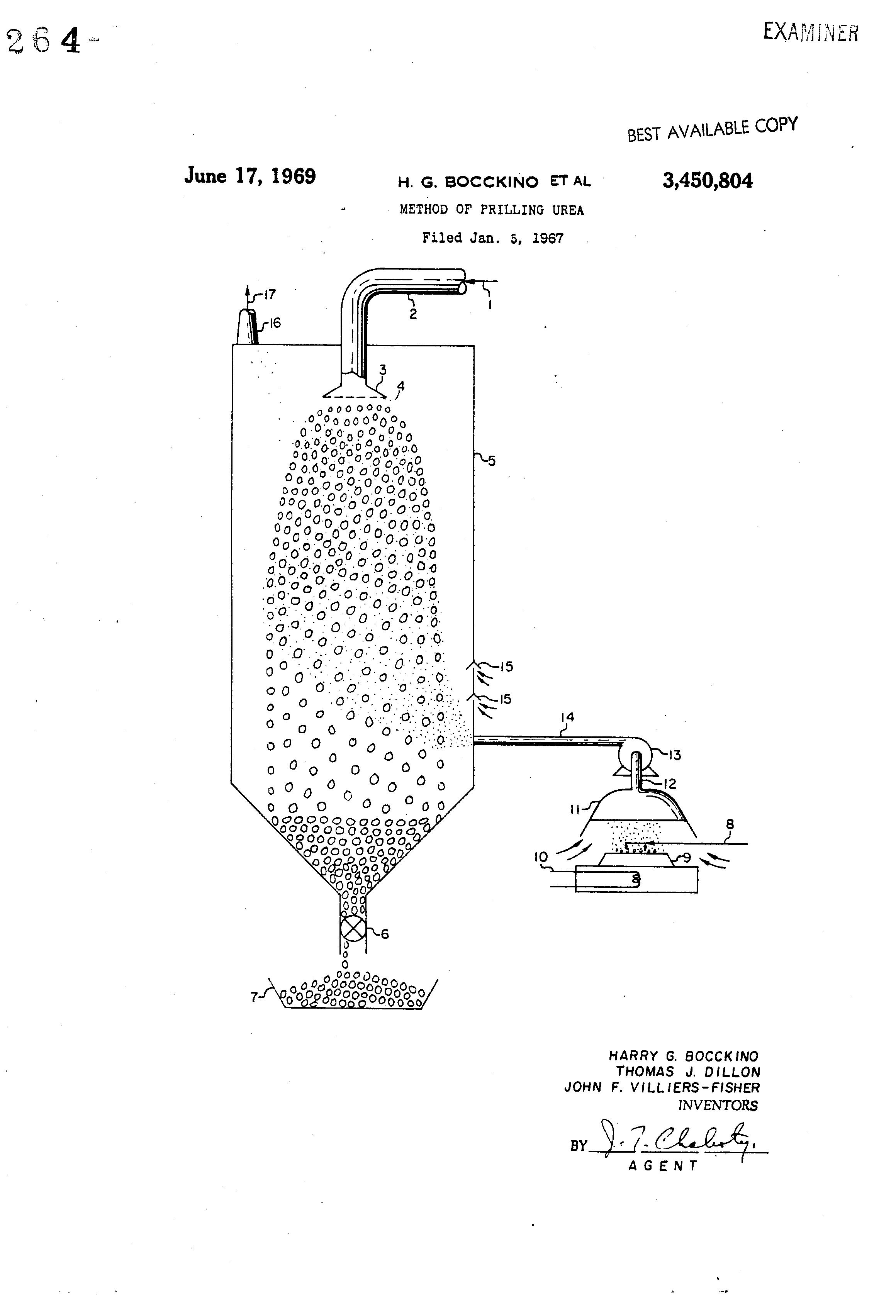Patent Us3450804 Method Of Prilling Urea Google Patents