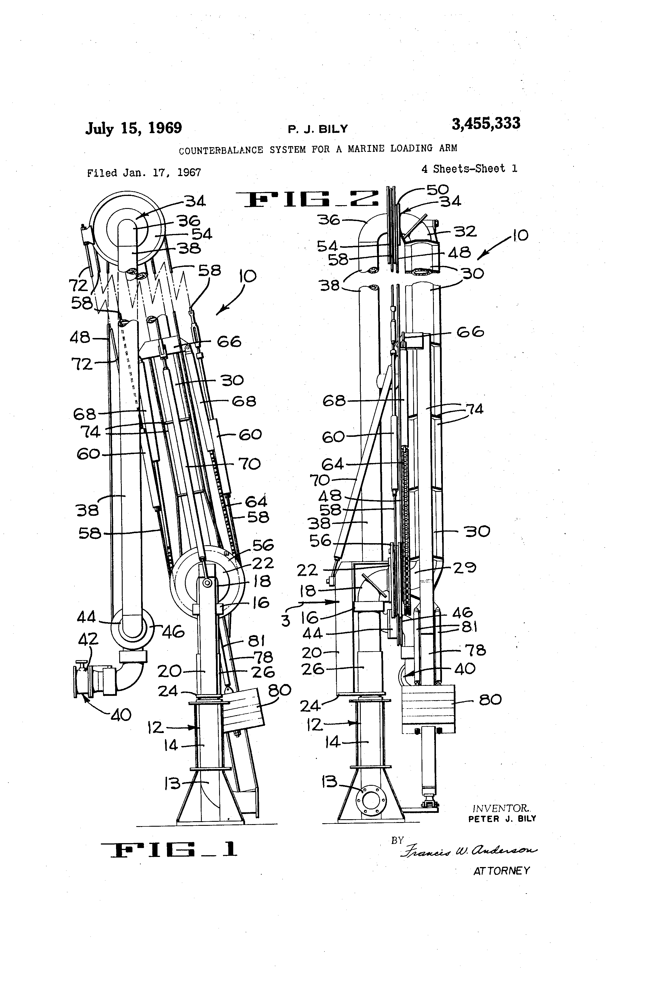 Hydraulic Loading Arms : Patent us counterbalance system for a marine