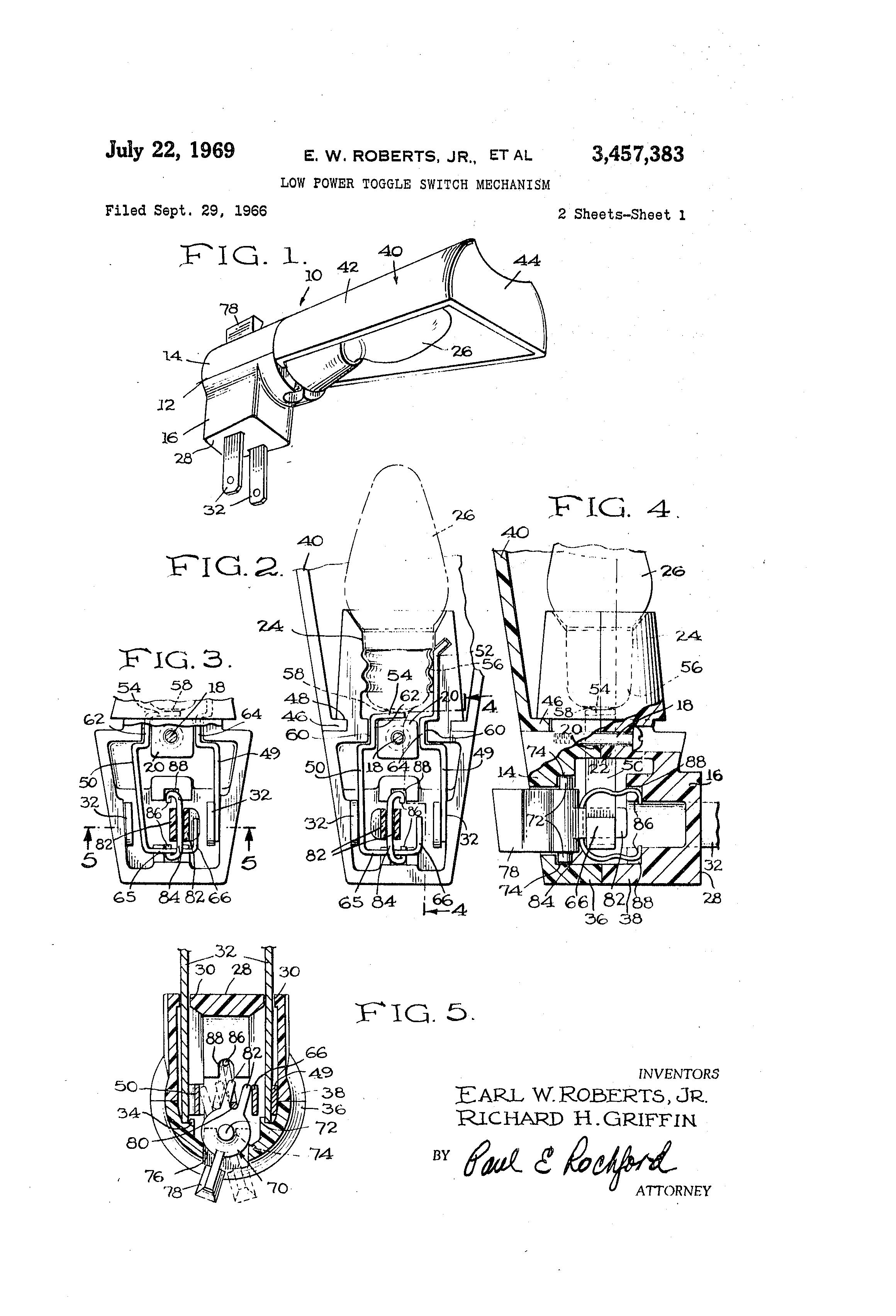 patent us3457383