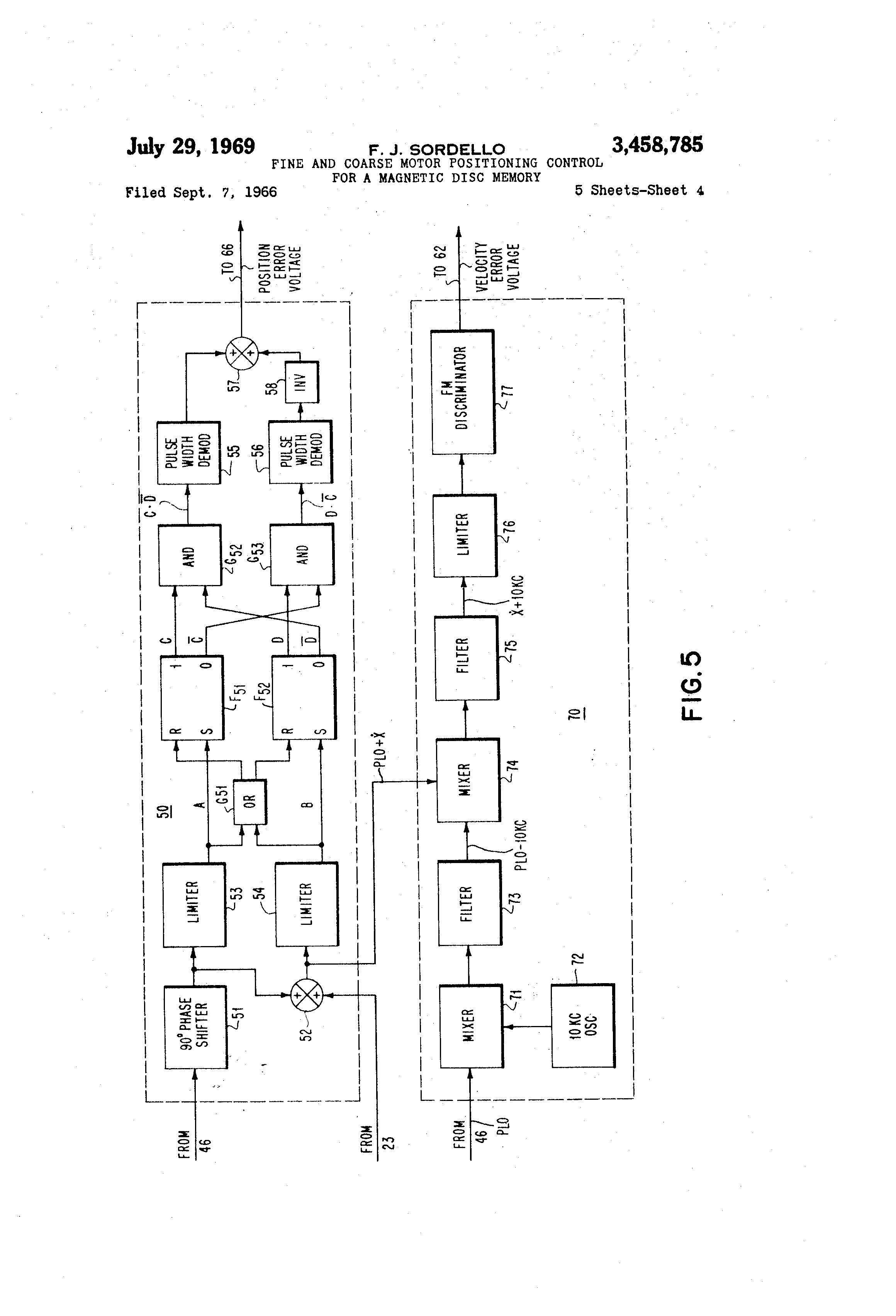 Patent Us3458785 Fine And Coarse Motor Positioning Control For A Kc 135 Engineering Schematics Drawing