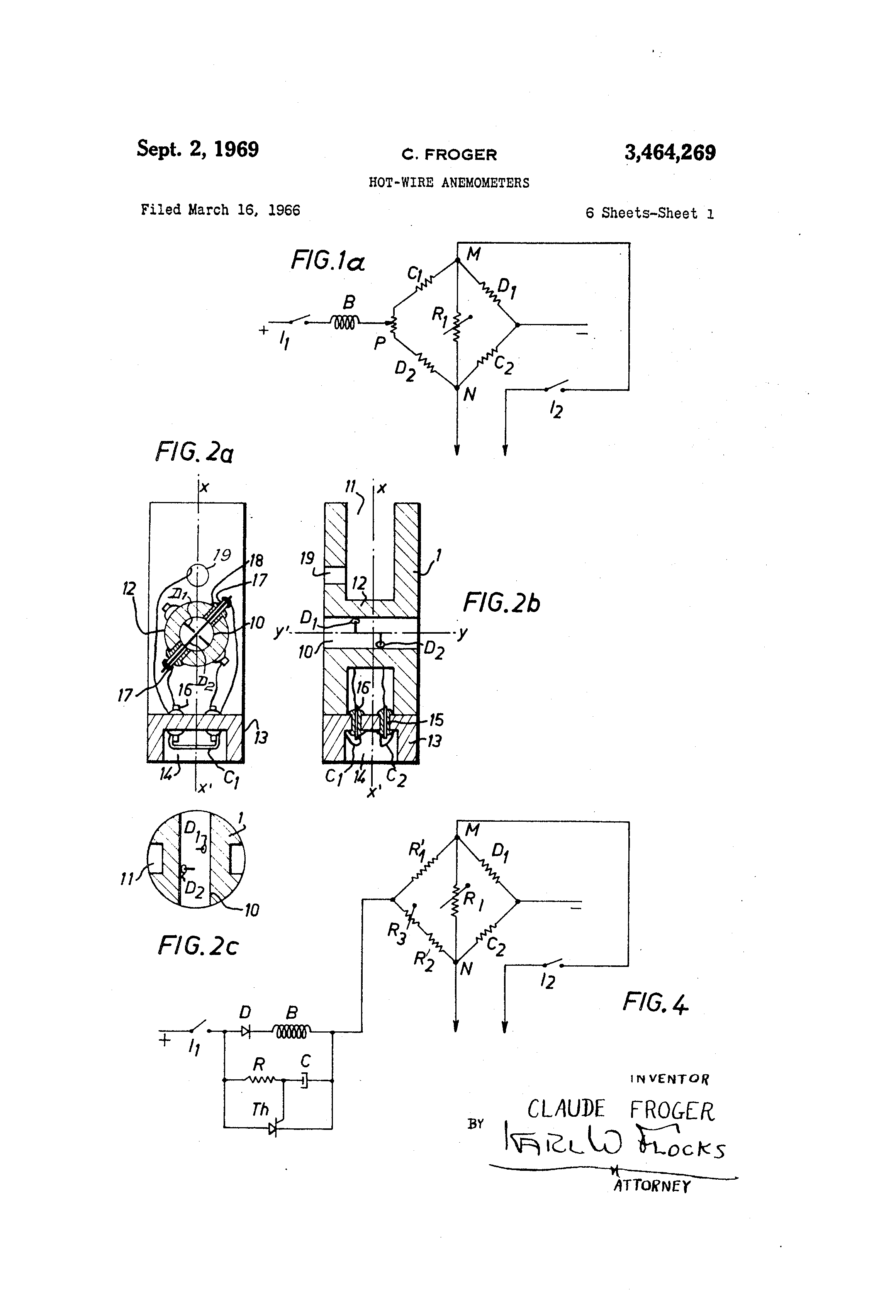 Patent US3464269 - Hot-wire anemometers - Google Patentsuche