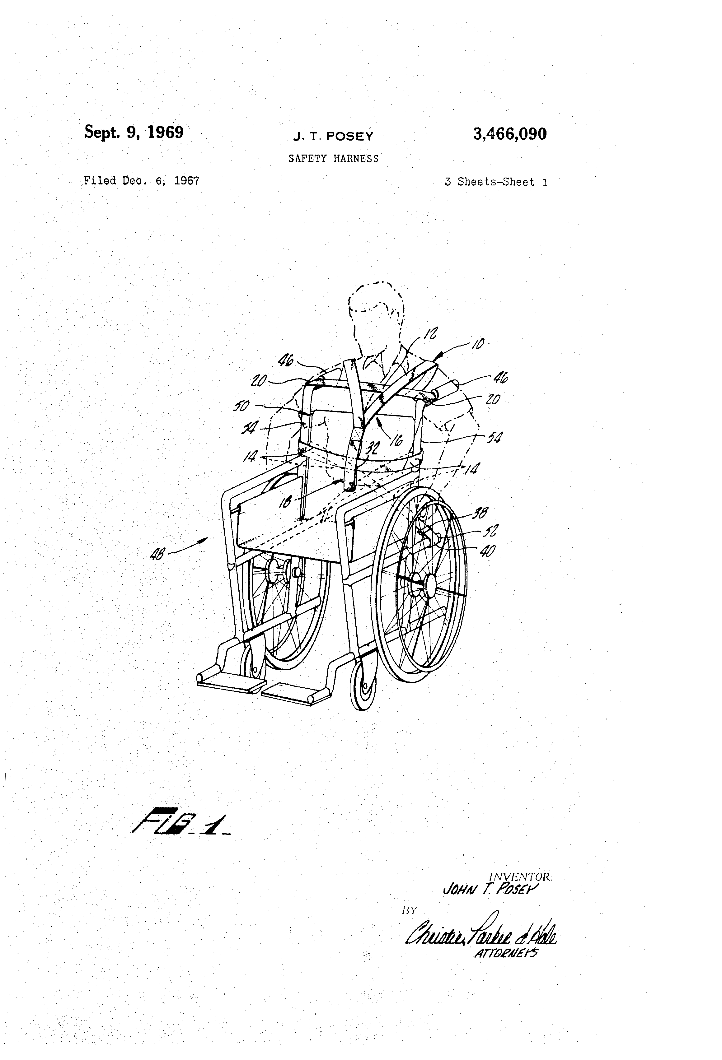 patent us3466090 - safety harness