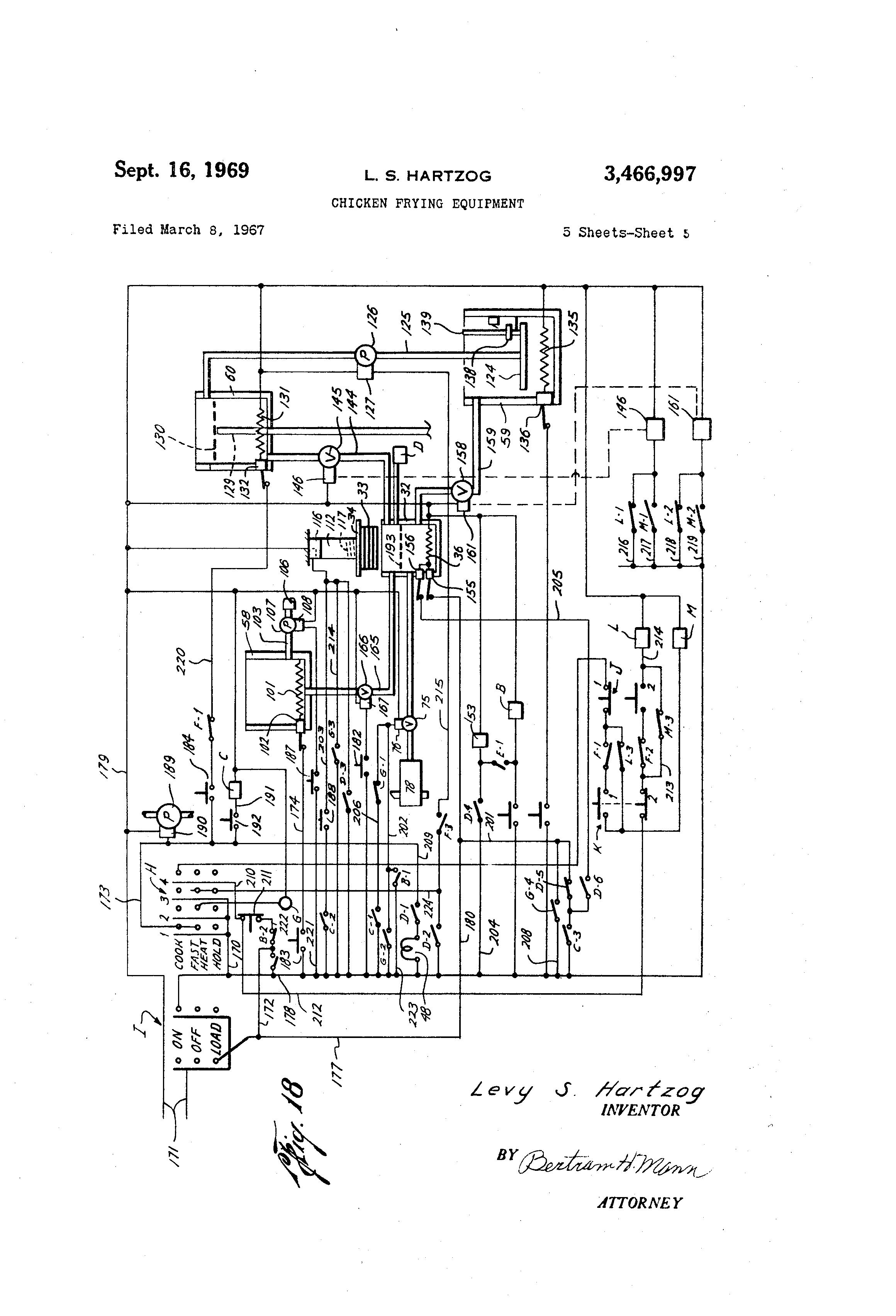 patent us3466997 - chicken frying equipment