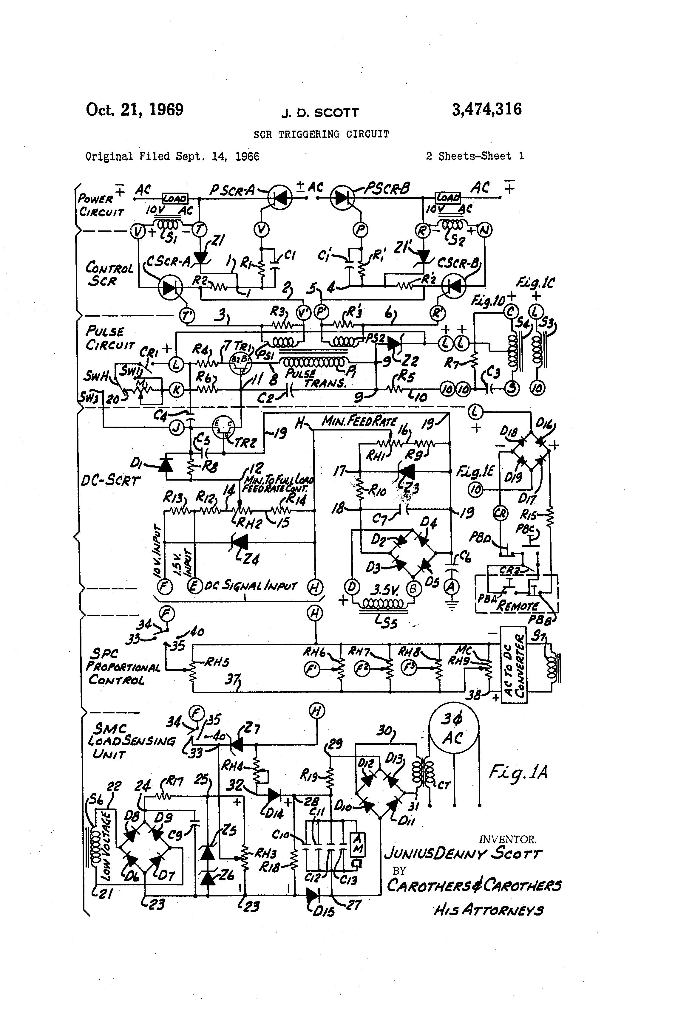 patent us3474316 - scr triggering circuit