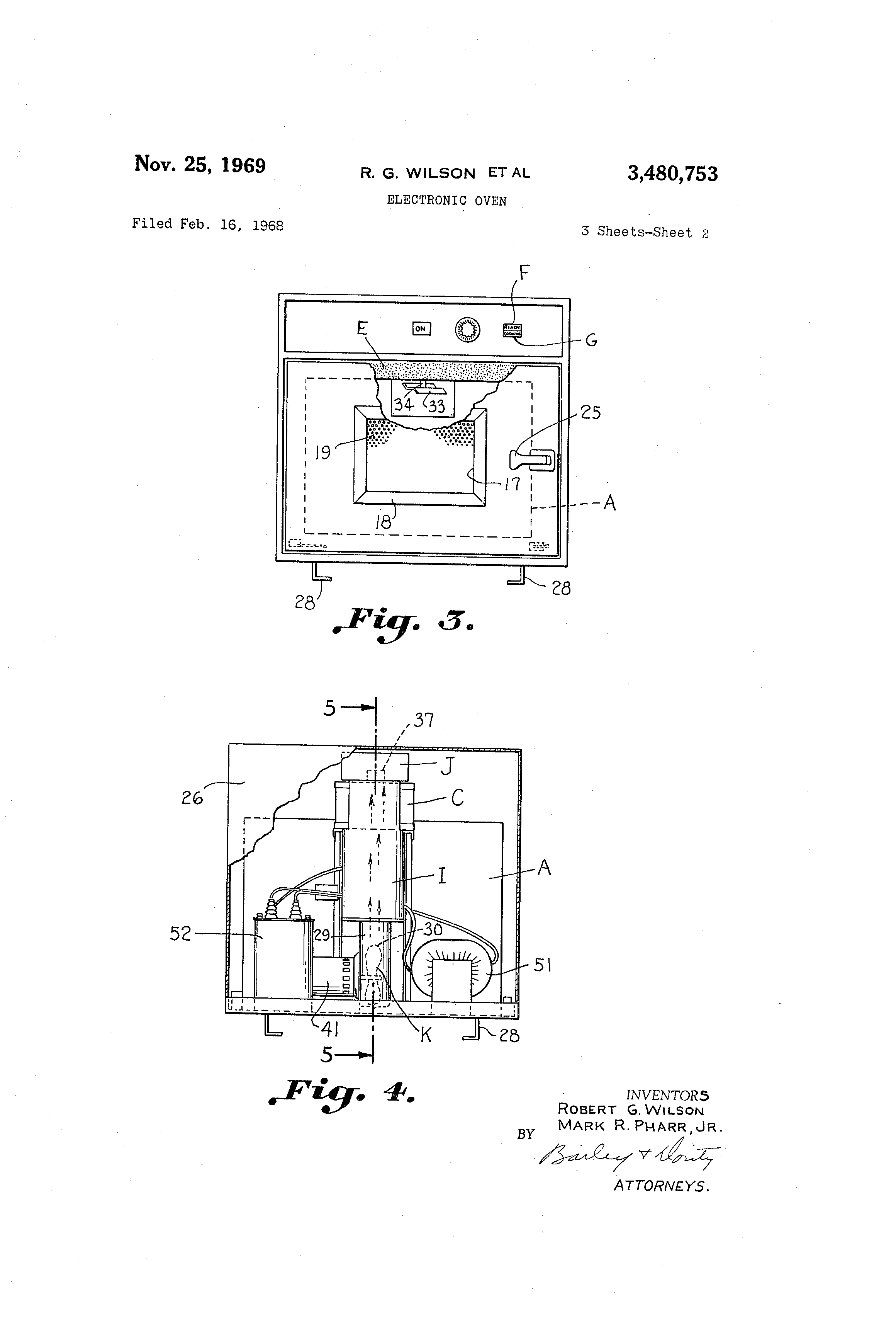 Patent Us3480753 Electronic Oven Google Patents Robert S Wiring Diagram Drawing
