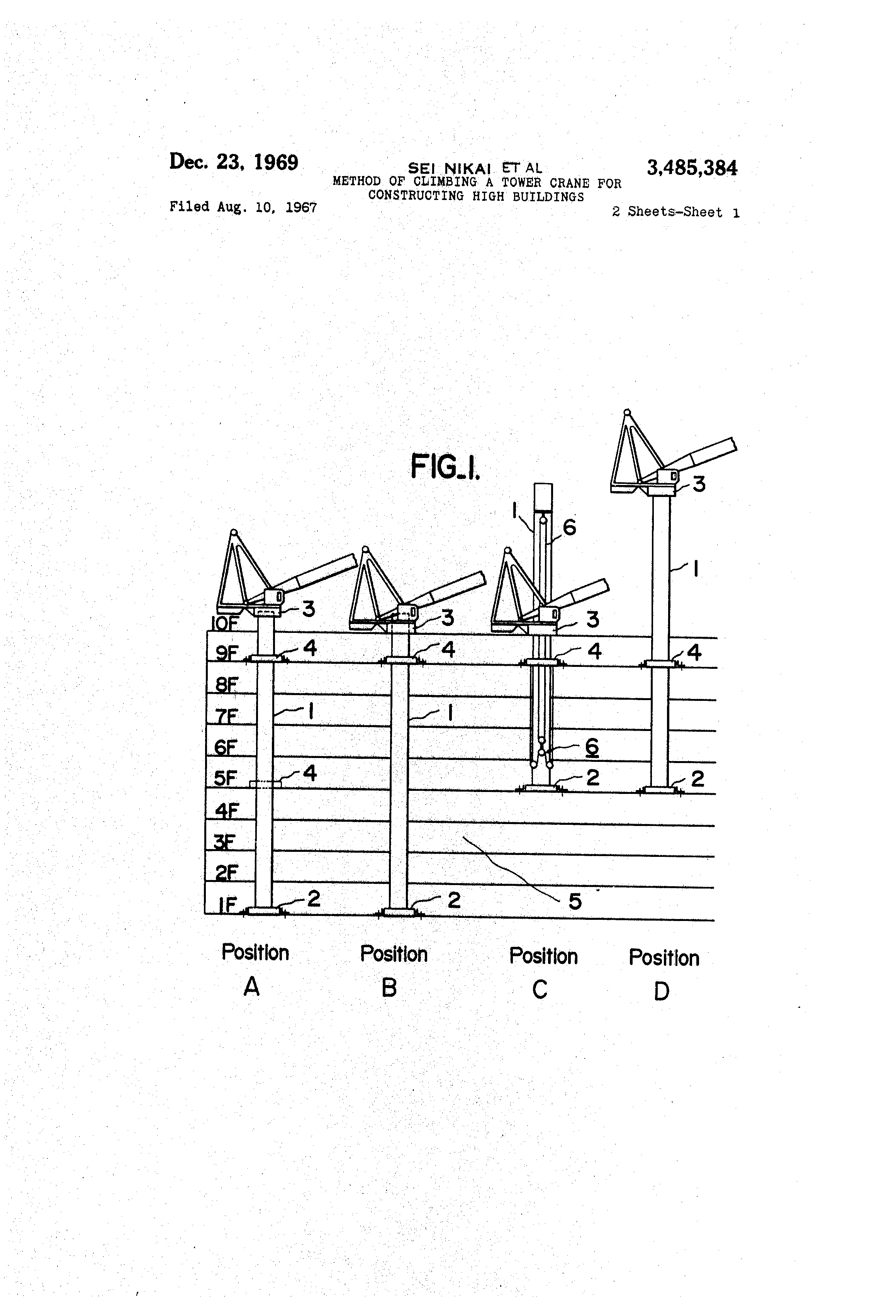 Tower Crane Inventor : Patent us method of climbing a tower crane for