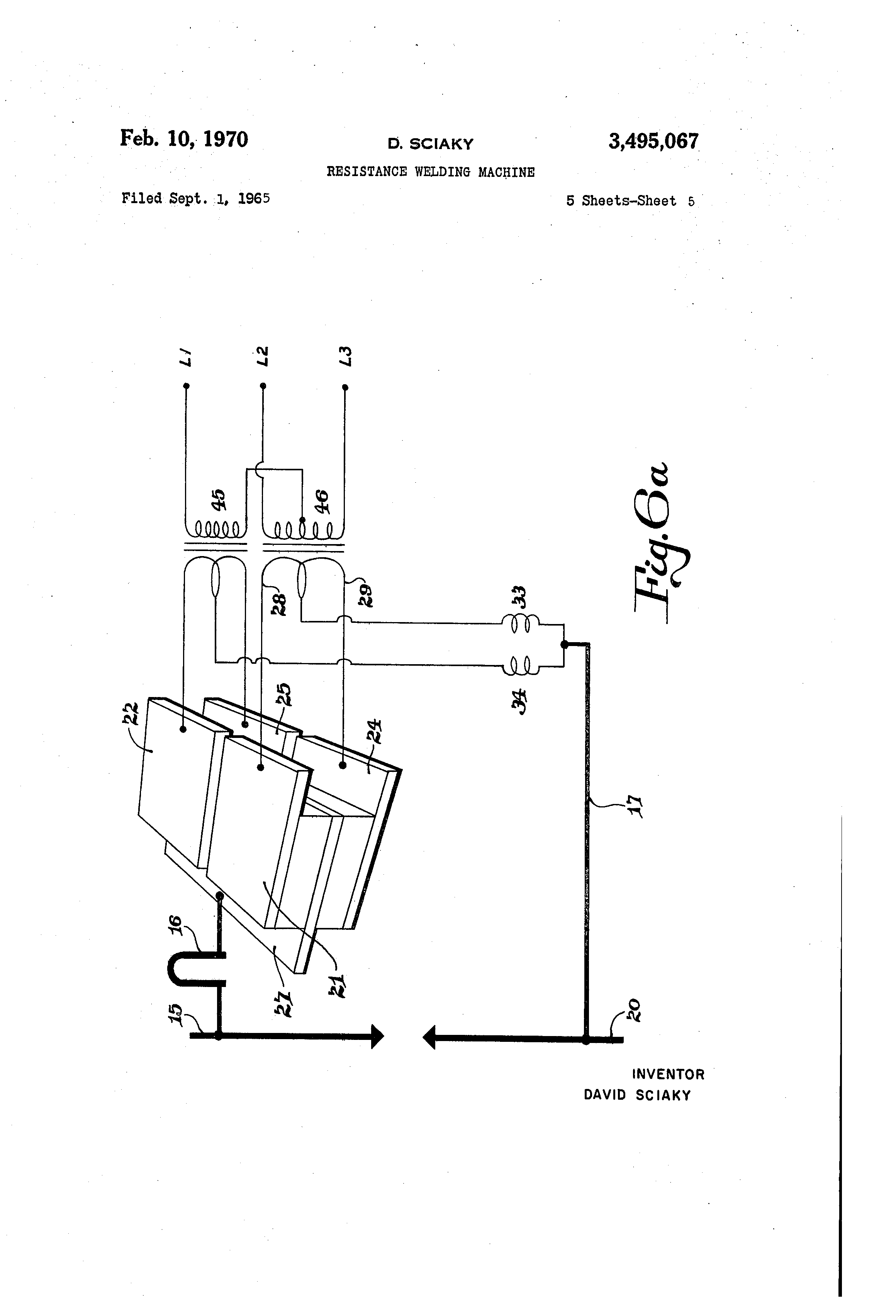 Patent Us3495067 Resistance Welding Machine Google Patents Winding Diagram Drawing