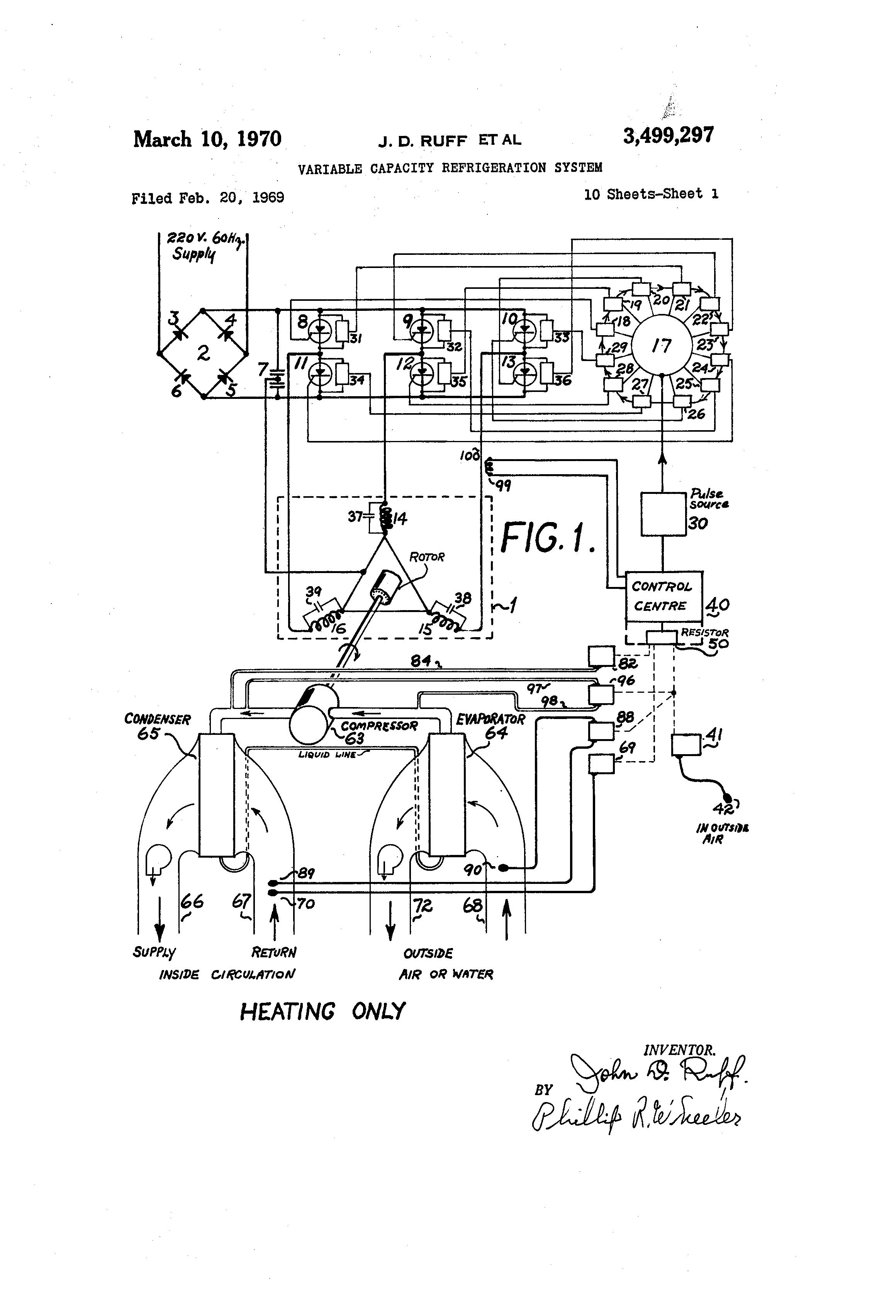 Patent US3499297 - Variable capacity refrigeration system - Google