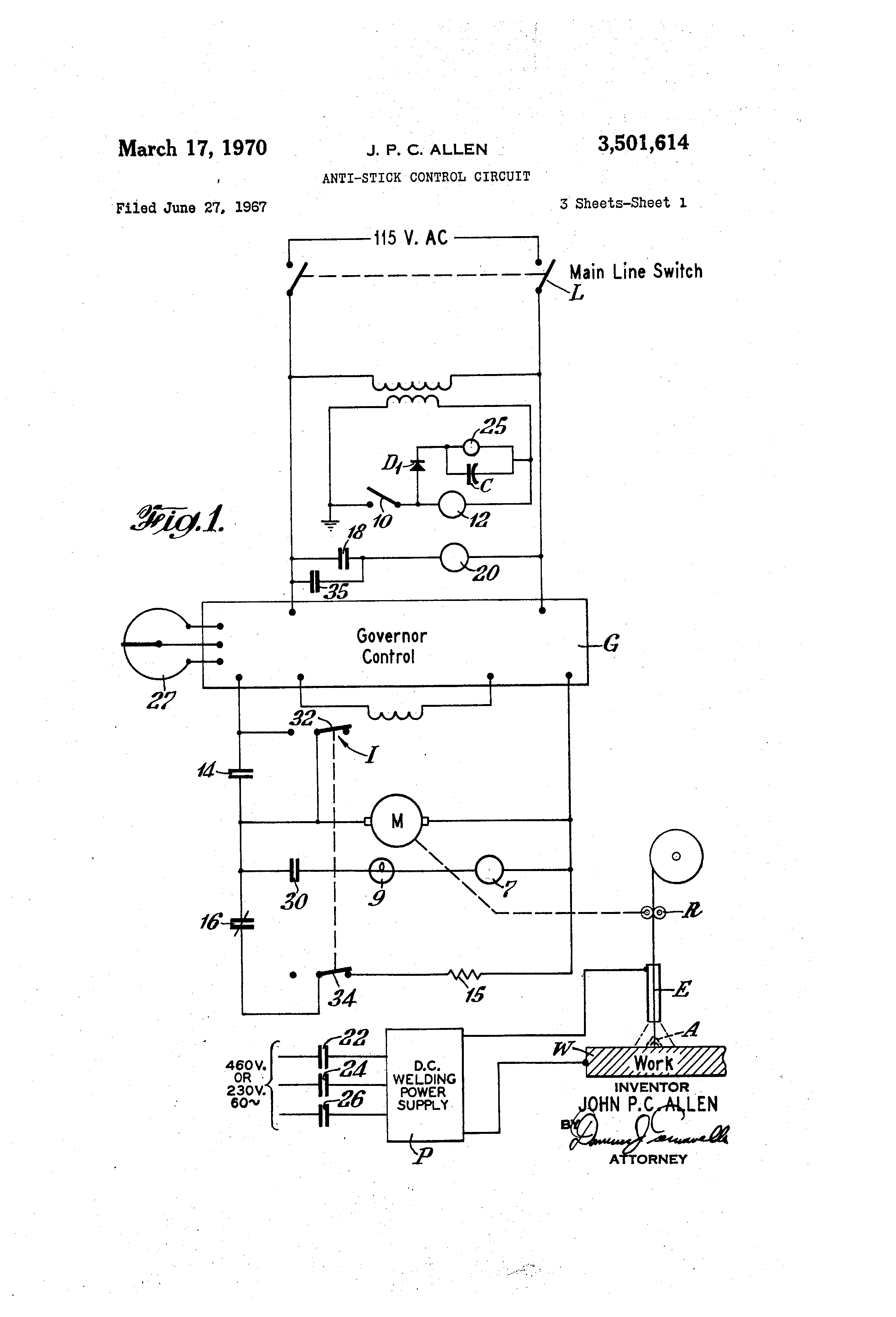 Mig Welder Schematic With Solid State Relay And Rectifier Solidstaterelay Patent Us3501614 Anti Stick Control Circuit Google Patents