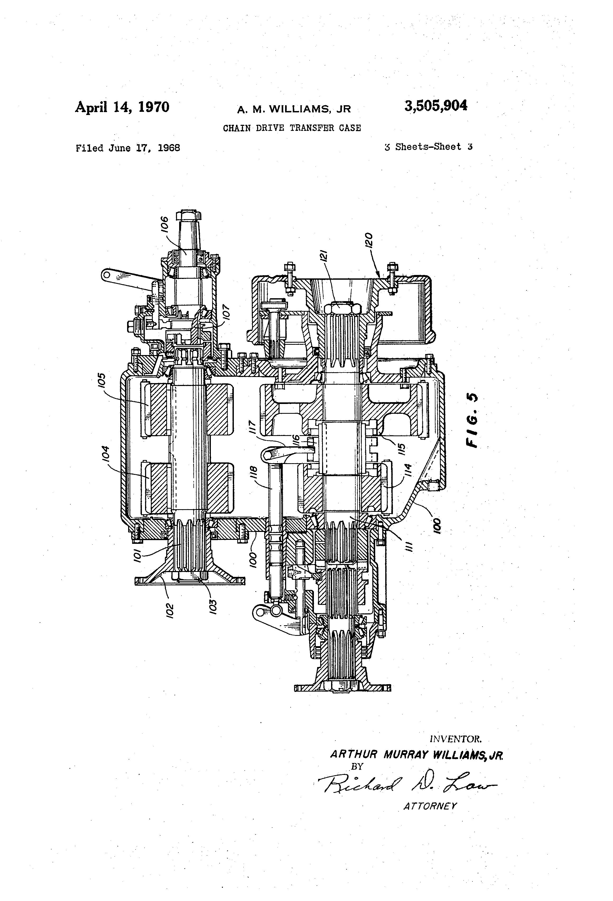 Chain Driven Transfer Case : Patent us chain drive transfer case google patents