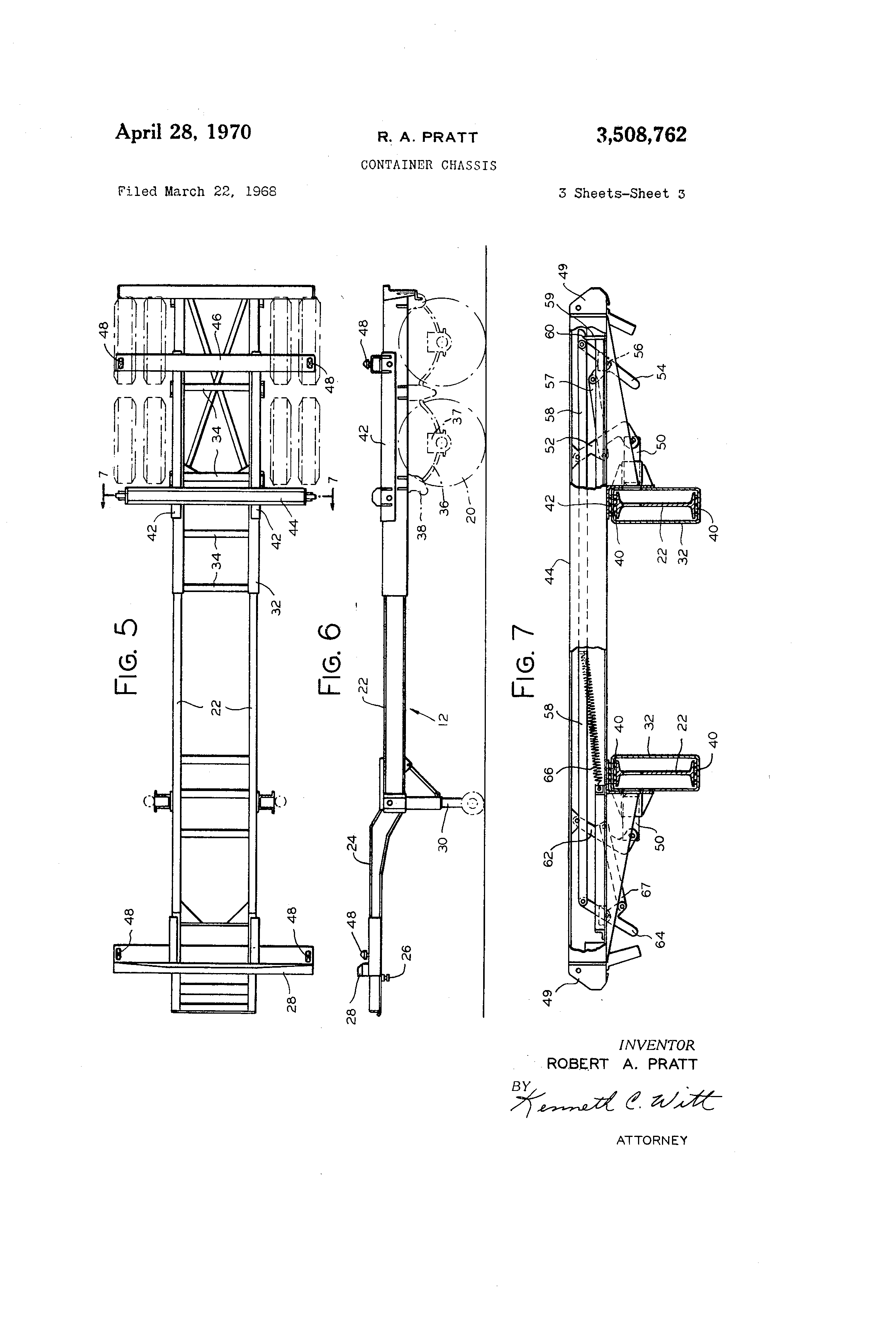 patent us3508762 - container chassis