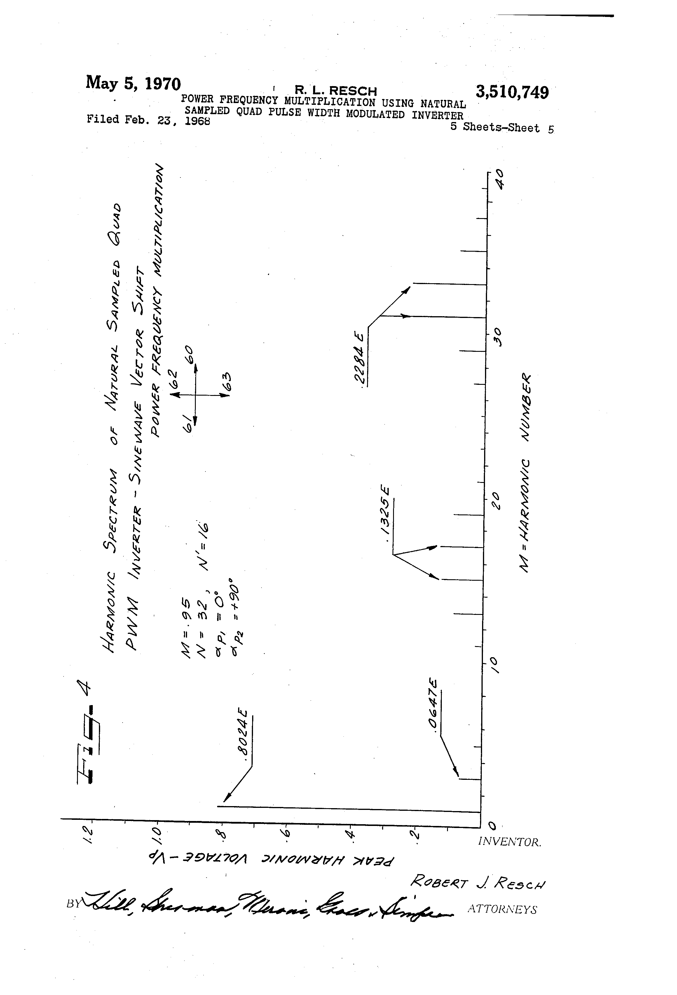 Patent Us3510749 Power Frequency Multiplication Using Natural Drawing