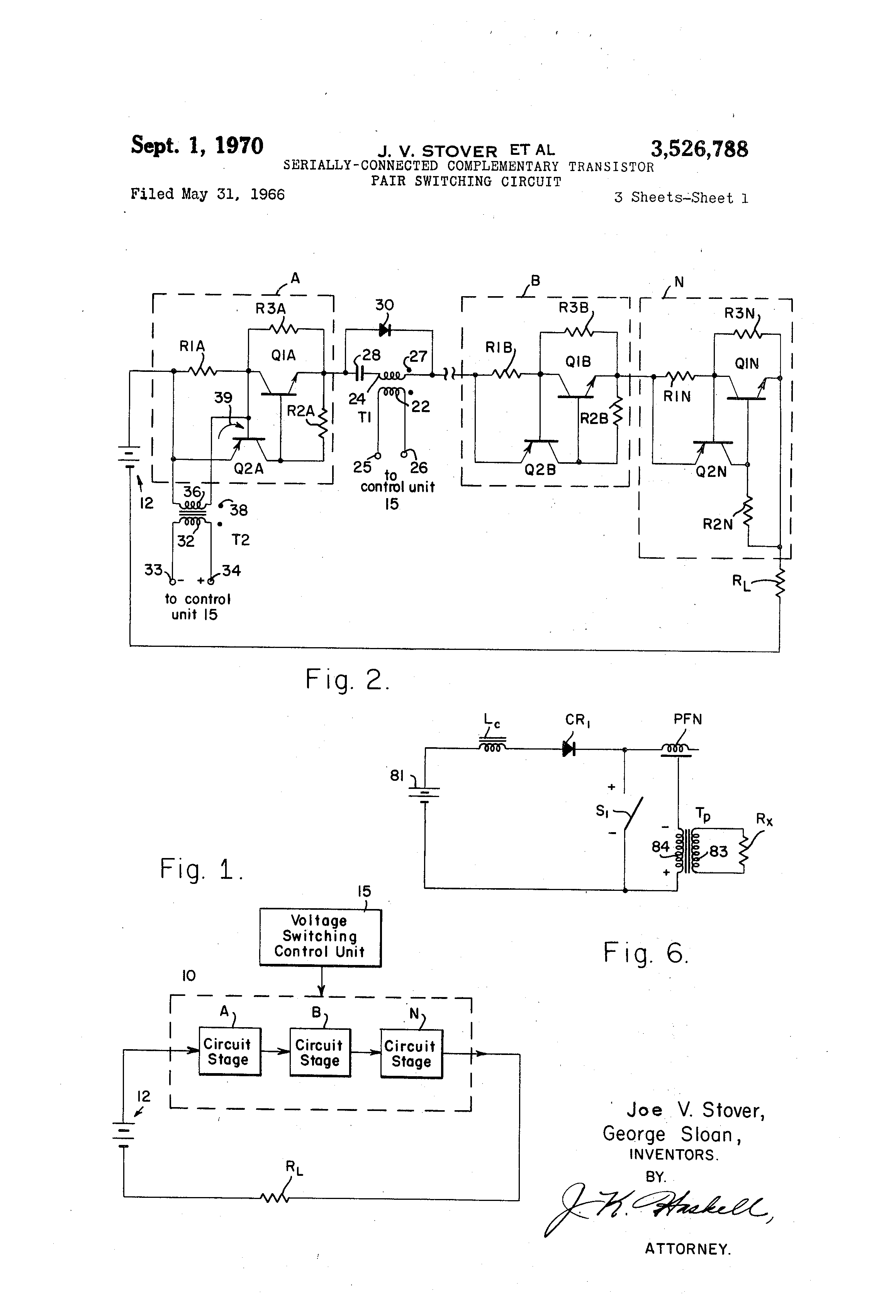 Patent Us3526788 Serially Connected Complementary Transistor Pair The Designer Of Circuit Claims To Drawing