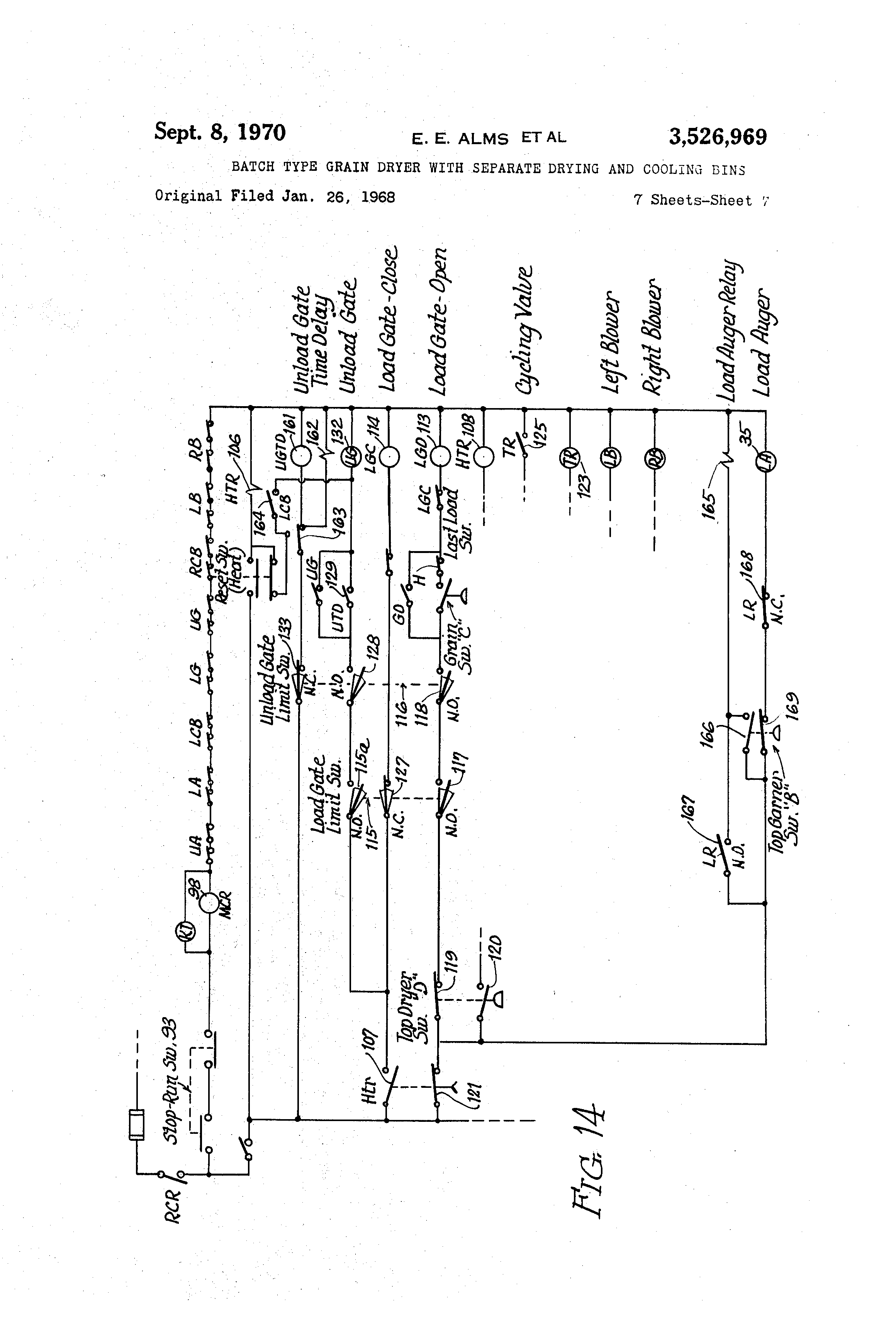 Patent Us3526969 - Batch Type Grain Dryer With Separate Drying And Cooling Bins