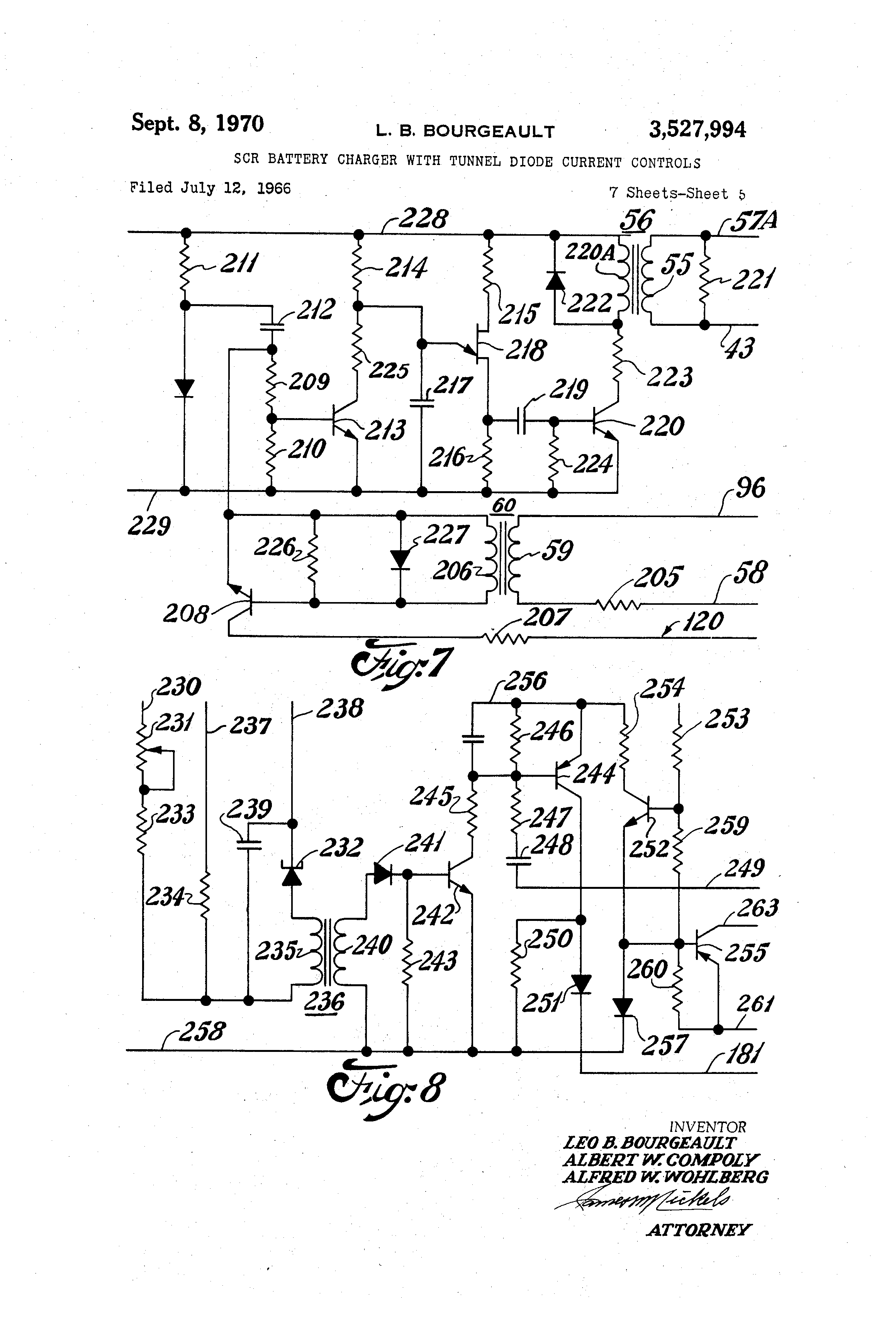 Patent Us3527994 Scr Battery Charger With Tunnel Diode Current Four Components A Silicon Controlled Rectifier Or Zener Drawing