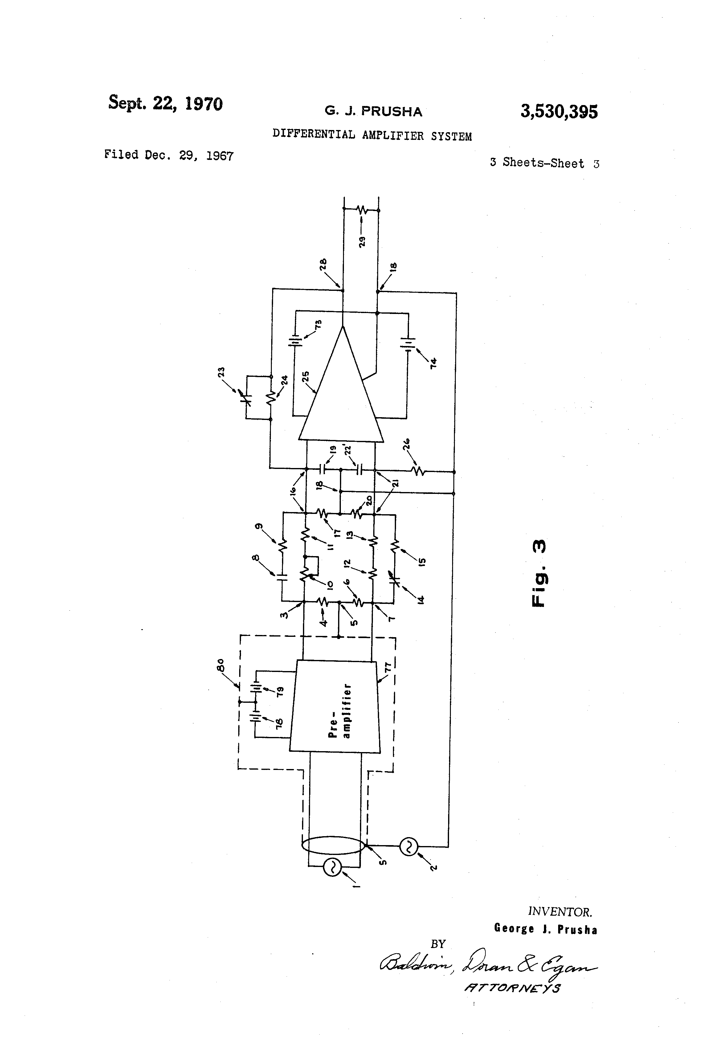 patent us3530395 - differential amplifier system