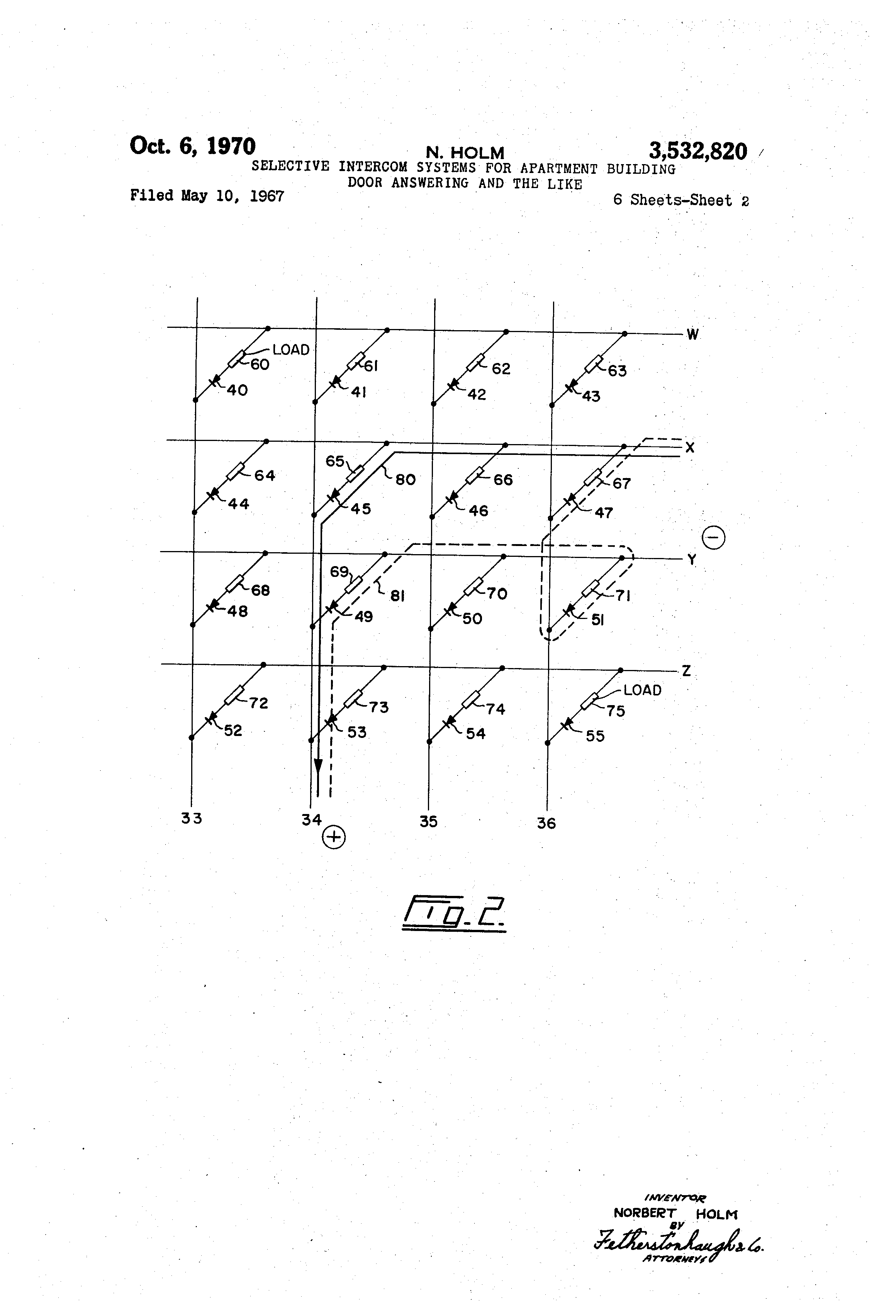 Patent Us3532820 Selective Intercom Systems For Apartment Building Low Cost And Simple Circuit Design Some Circuits Drawing
