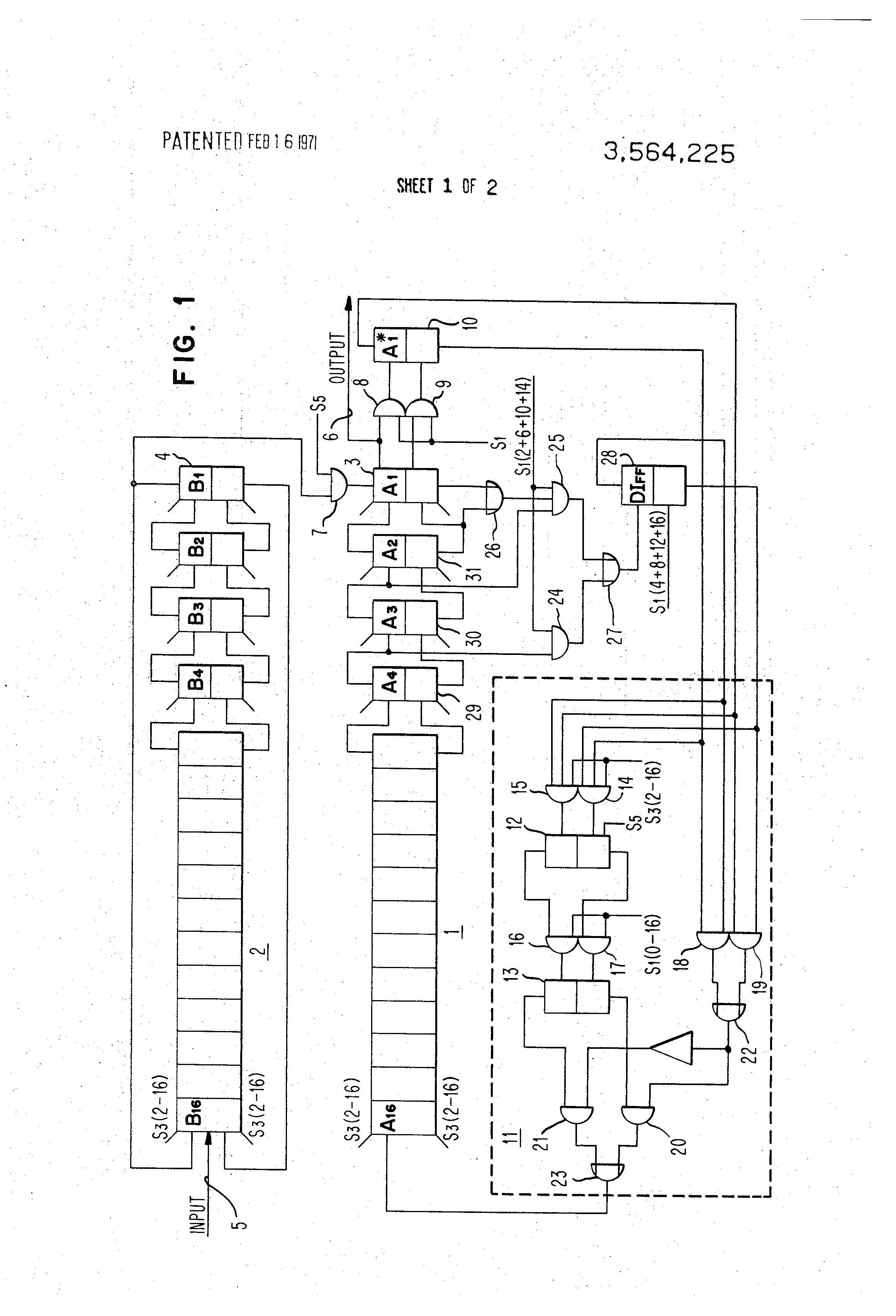 Patent Us3564225 Serial Binary Coded Decimal Converter Google To Bcd Pictures Drawing