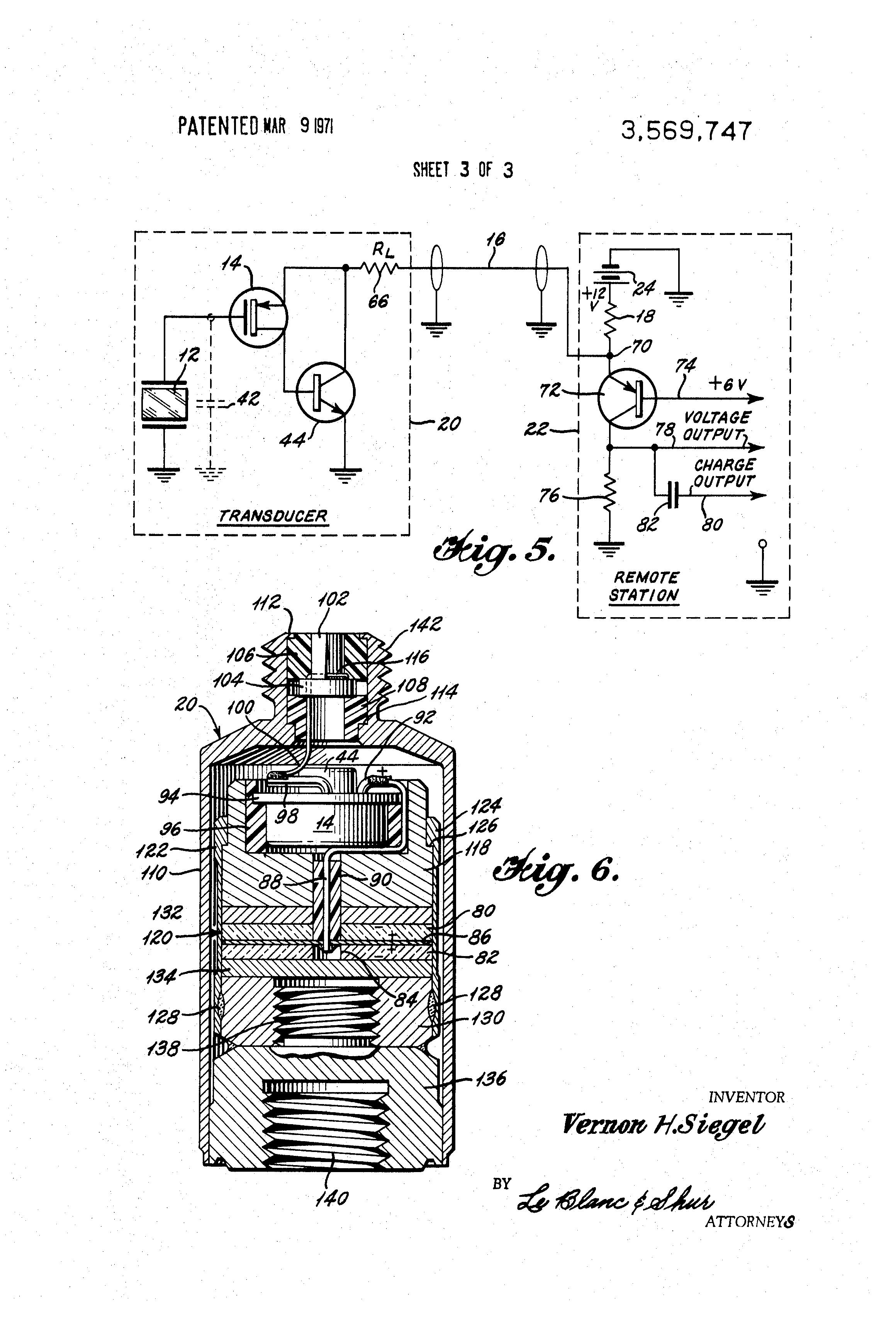 Patent Us3569747 Piezoelectric Transducer Google Patents Highvoltage Amplifier Circuit Diagram For Ceramic Drawing