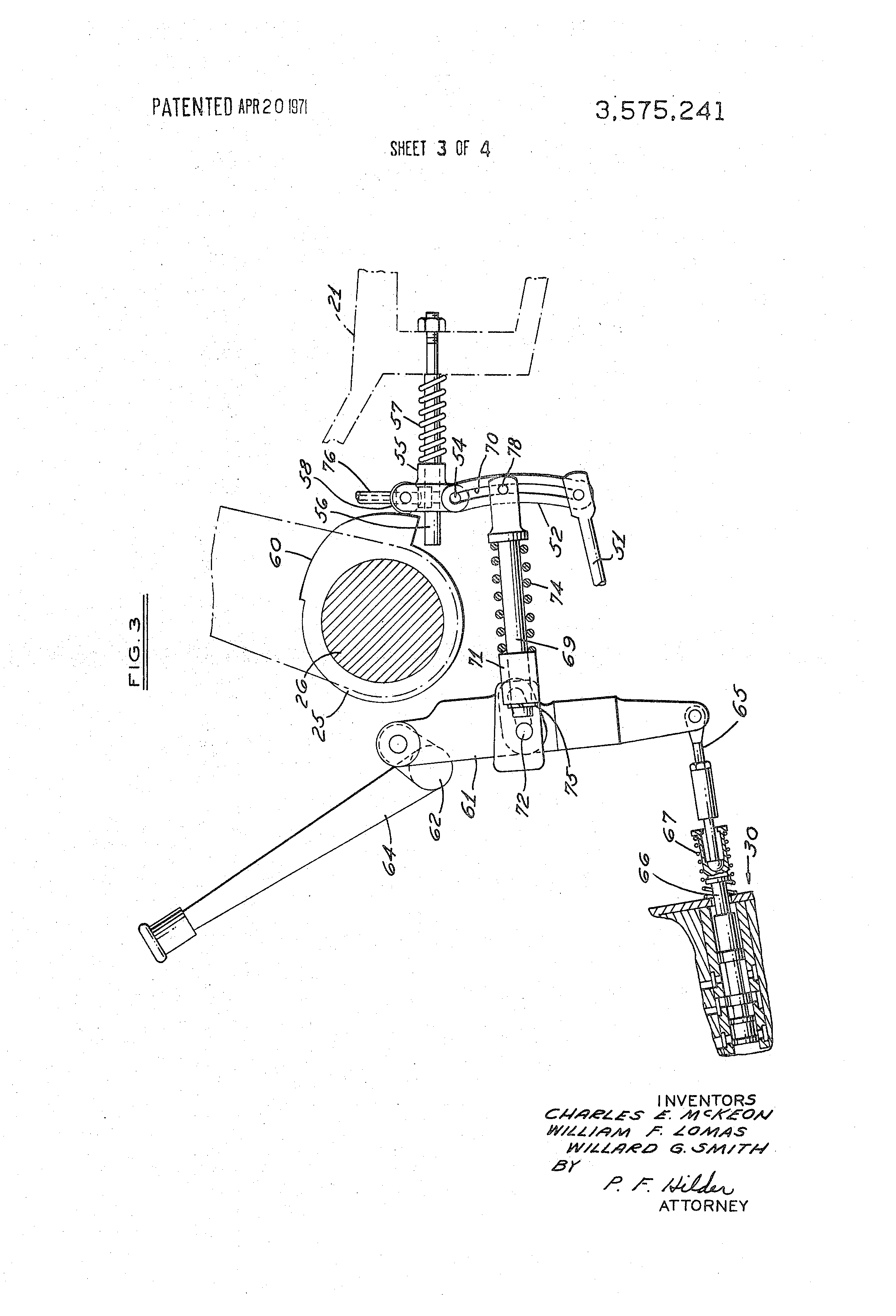 Patent Us3575241 Tractor Hydraulic Lift Control System