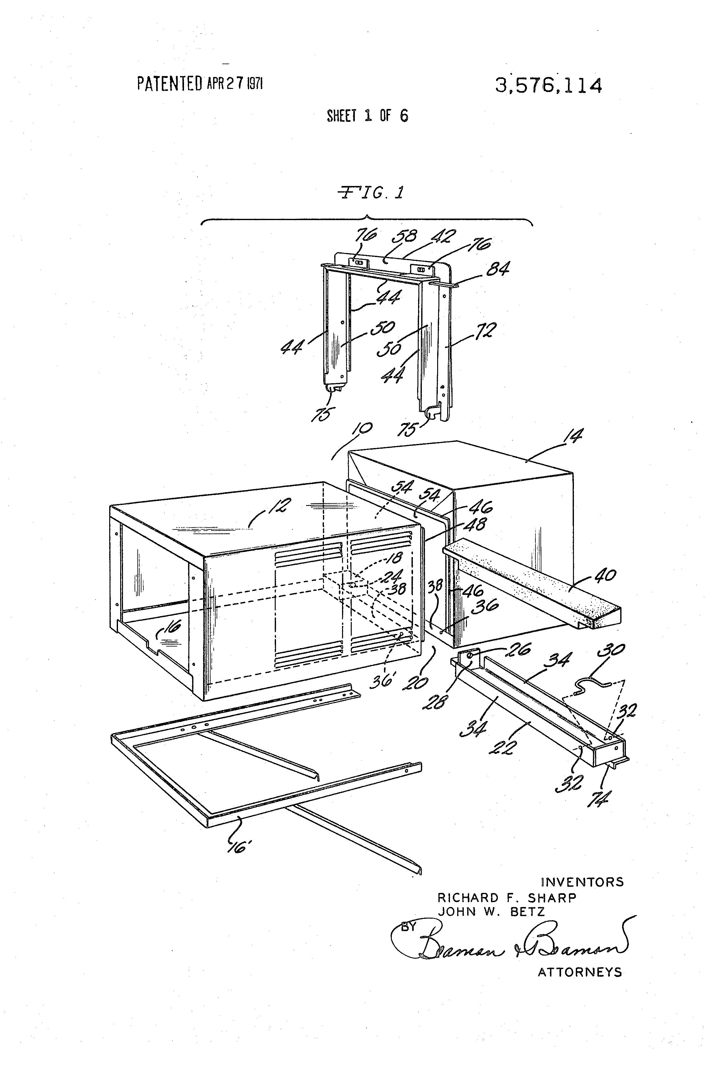 patent us3576114 - window air-conditioning unit