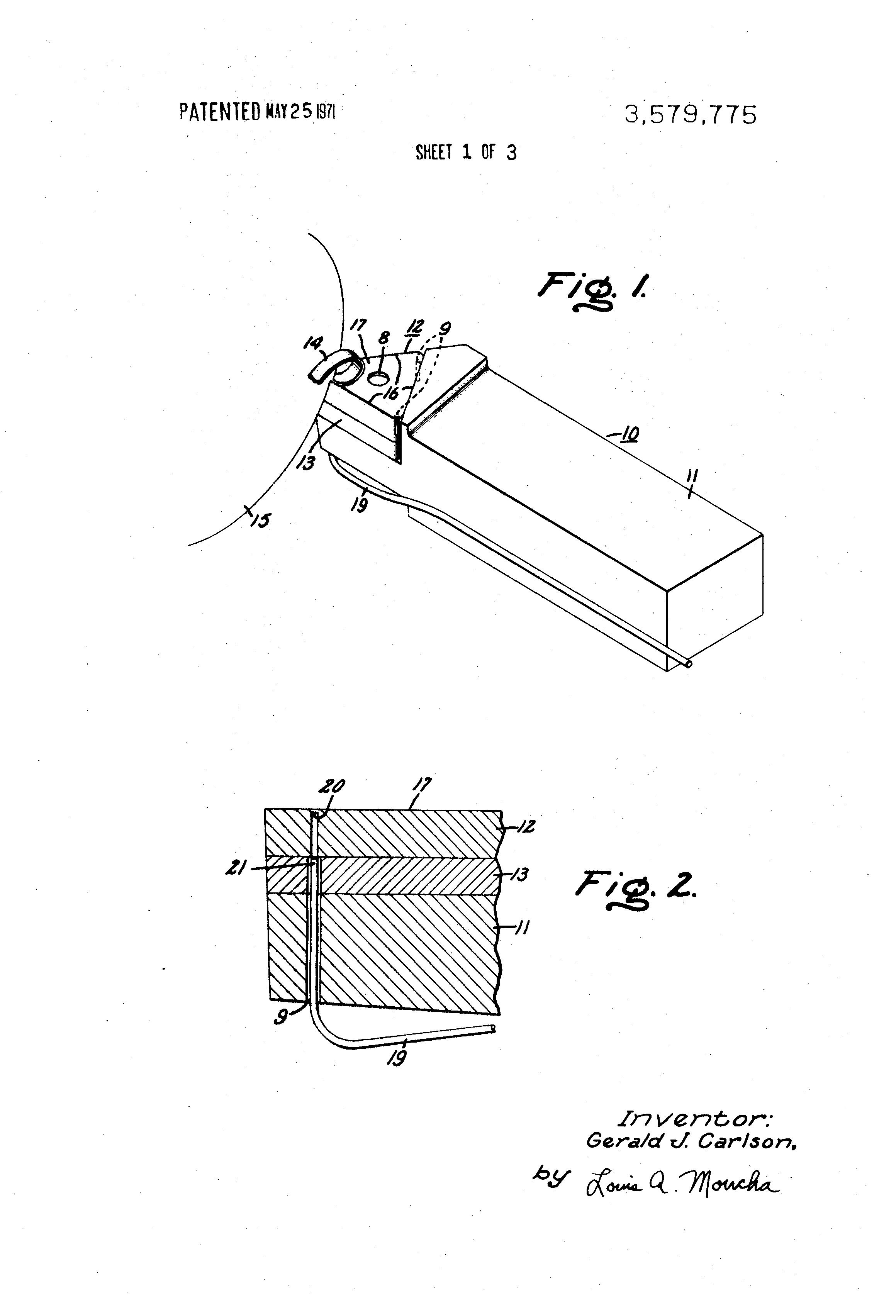 Patent Us3579775 Tool Surface Temperature Measuring Apparatus Tools And Circuit Diagrams Drawing