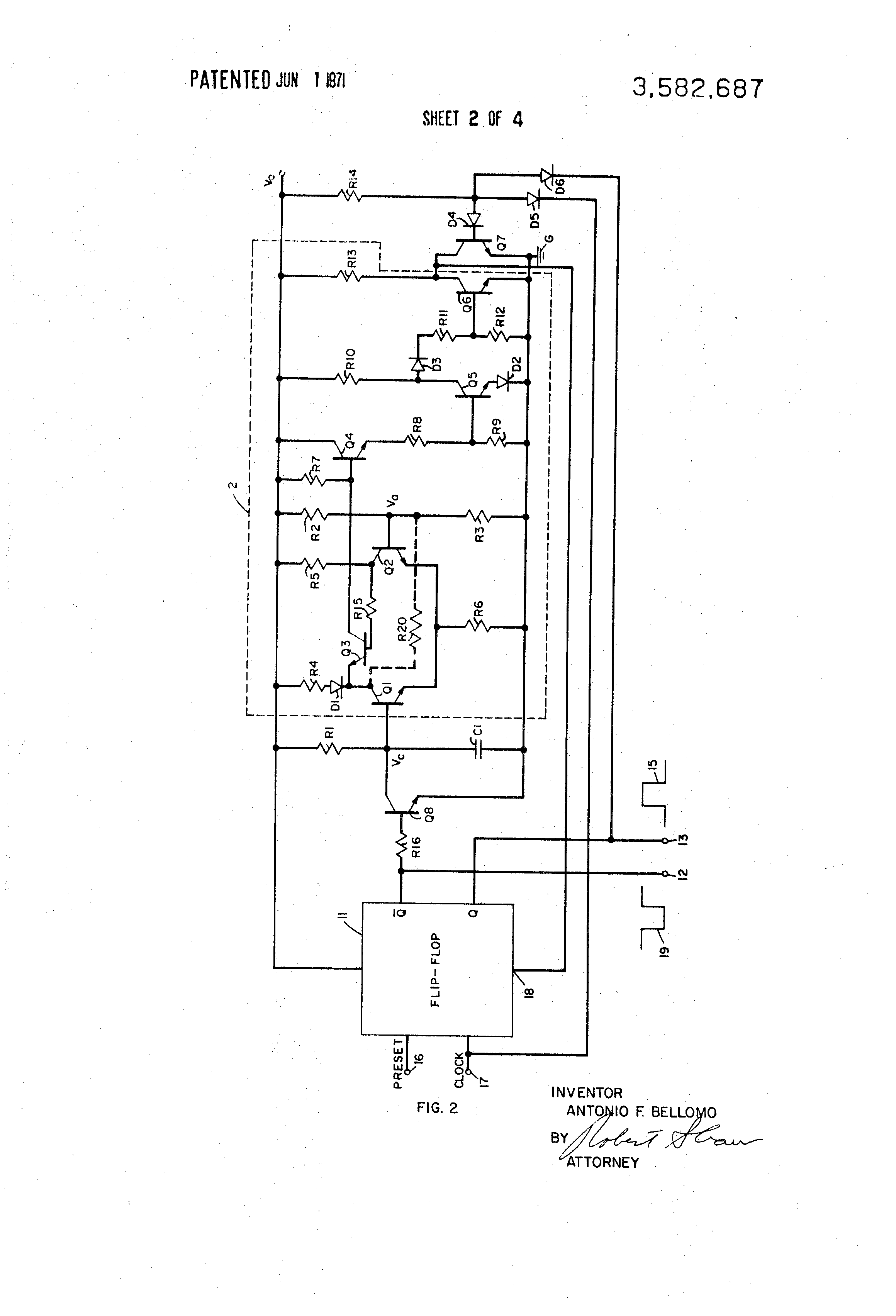 Patent Us3582687 Monostable And Astable Multivibrator Apparatus The Circuit Diagram Of An Using Operational Drawing