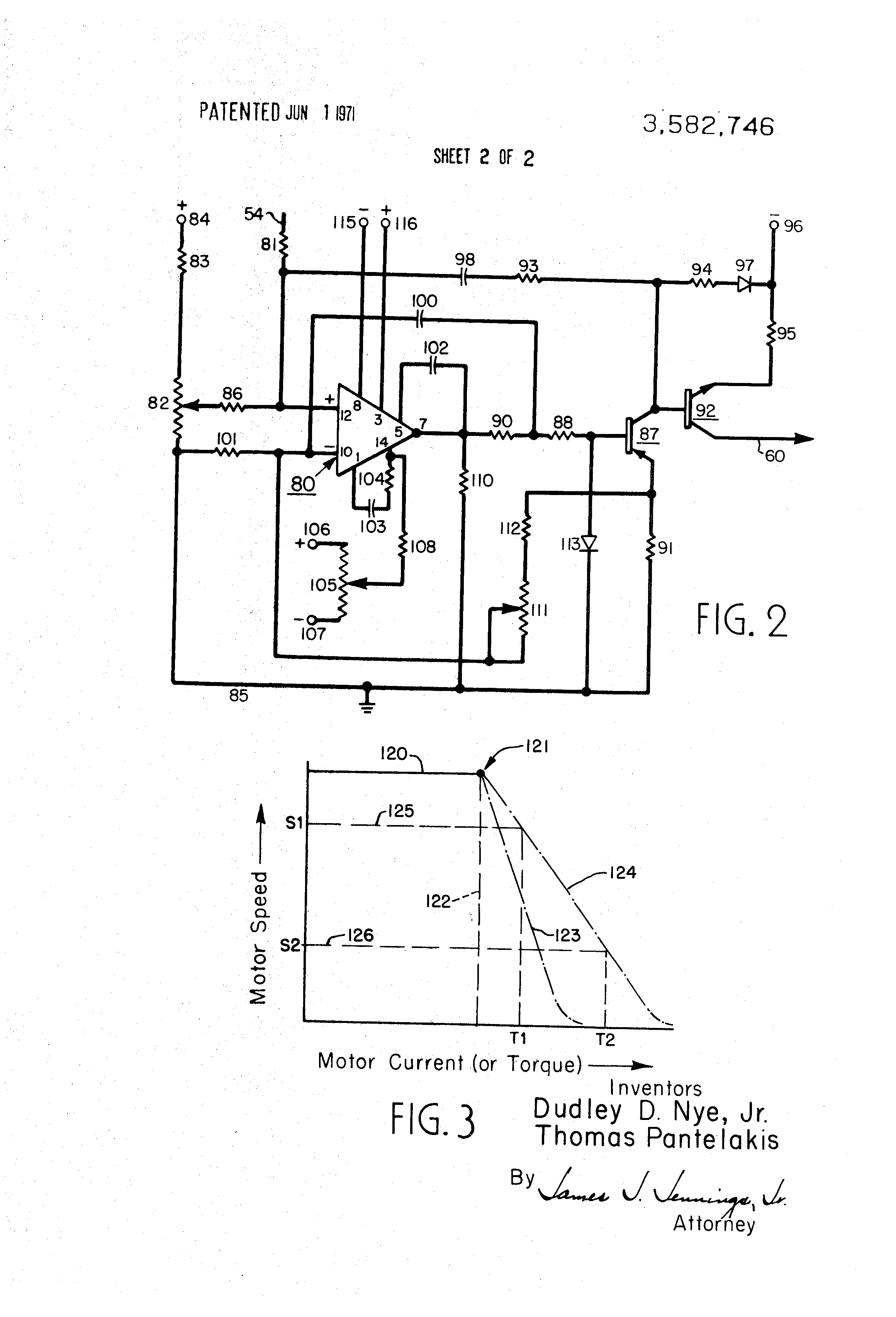 Patent Us3582746 Motor Control System With Current Limit Circuit Drawing