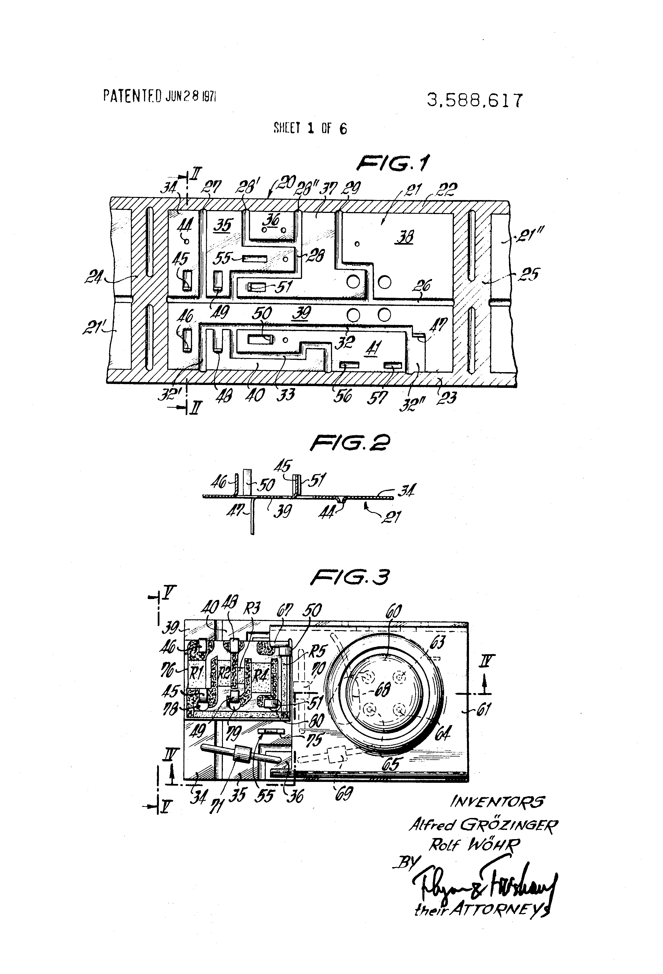Patent Us3588617 Electrical Circuit Structureand Particularly Basic Voltage Regulator Composed Of Zener Diode Othercircuit Drawing