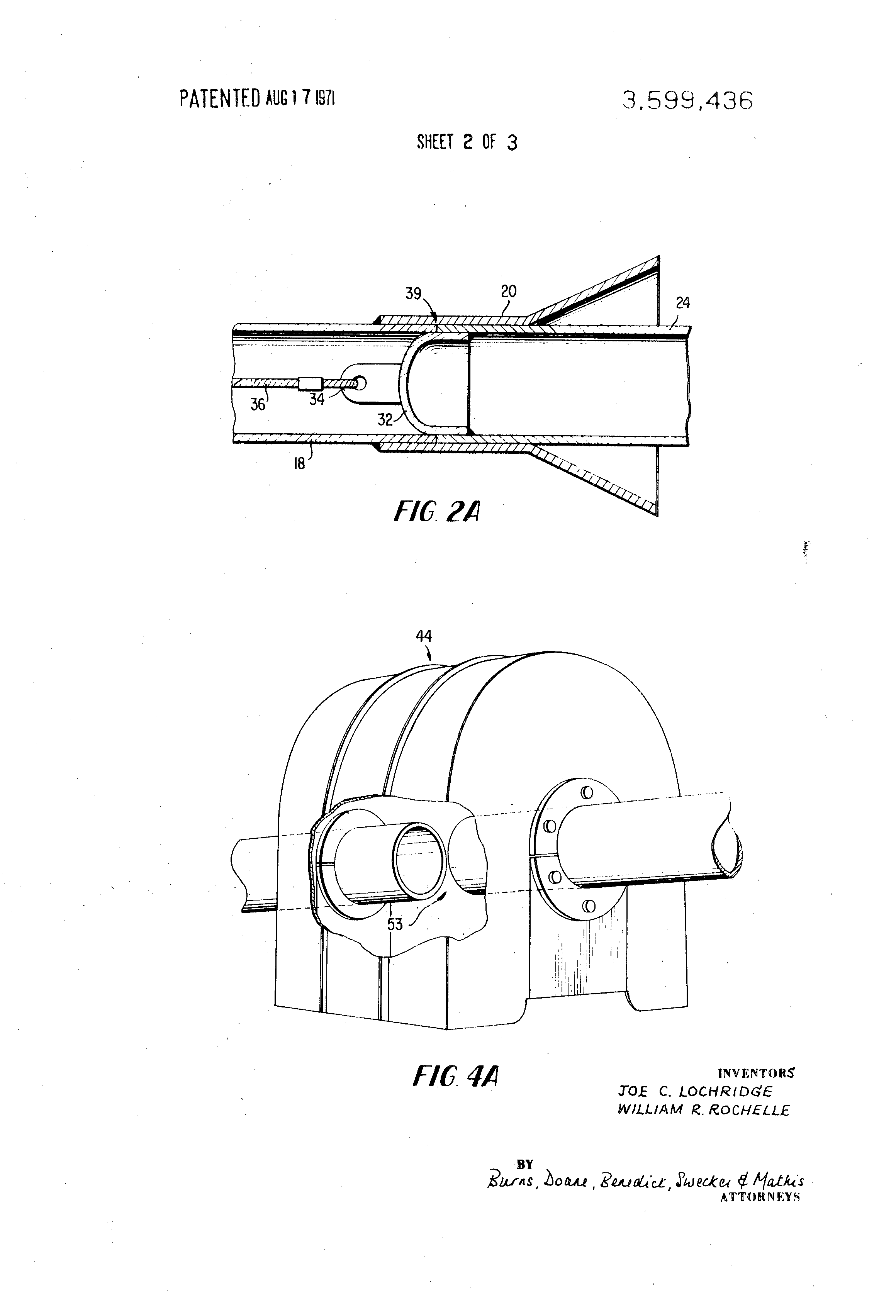 Patent Us3599436 Pipeline Connections With Underwater Work Chamber Welding Diagram Drawing