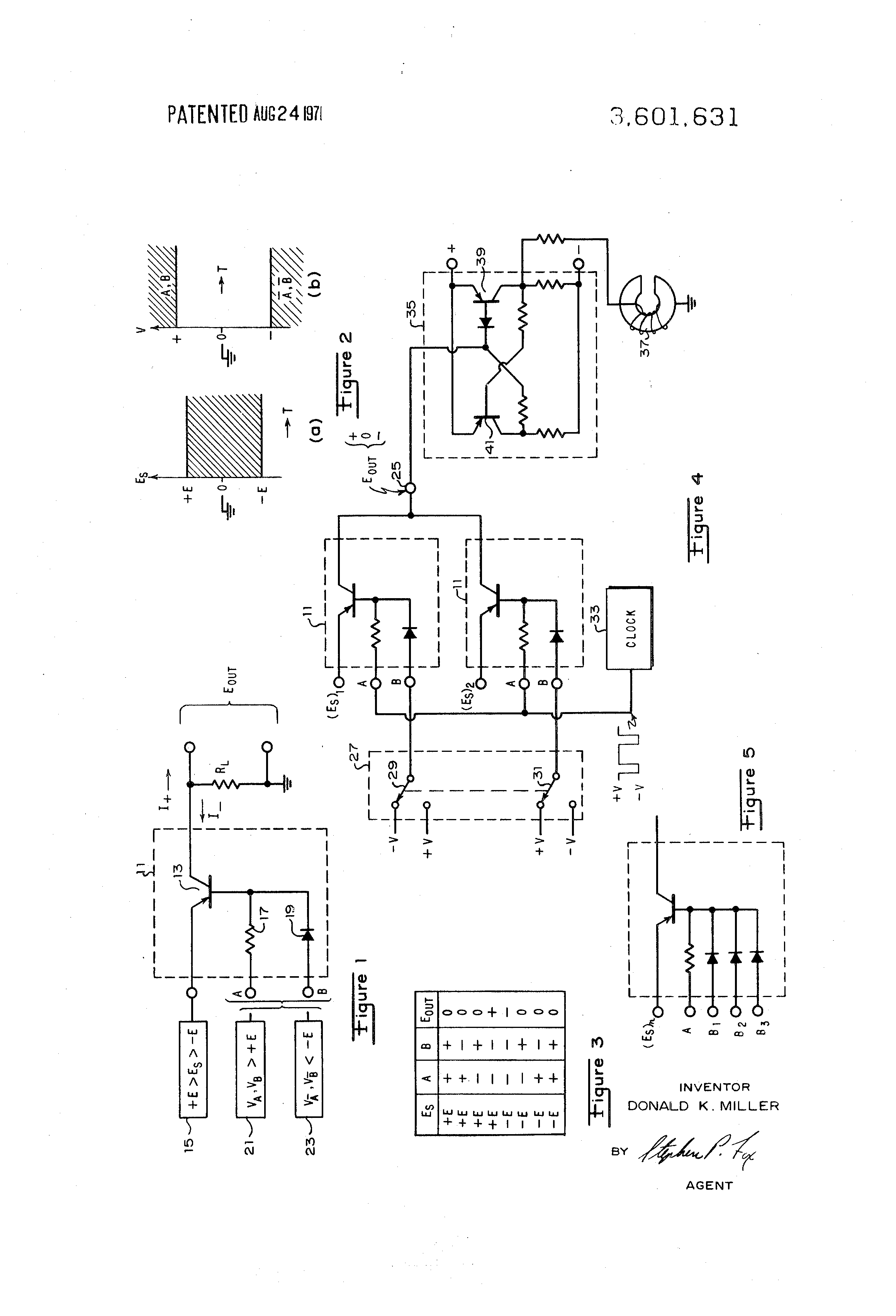 patent us3601631 binary input controlled gate circuit for analog SOP Truth Table patent drawing