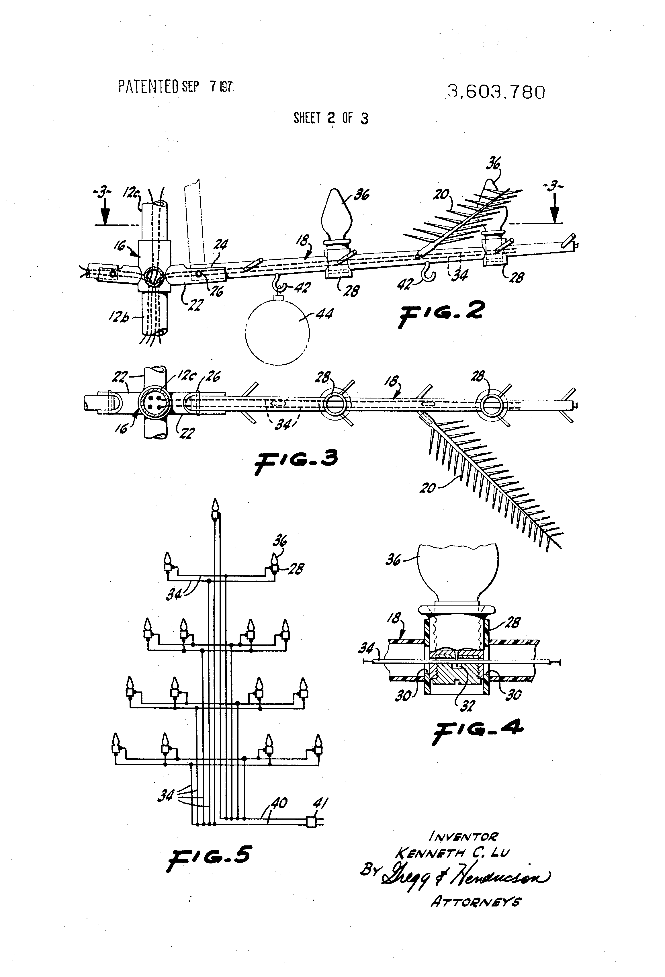 Patent Us3603780 - Artificial Tree Structure