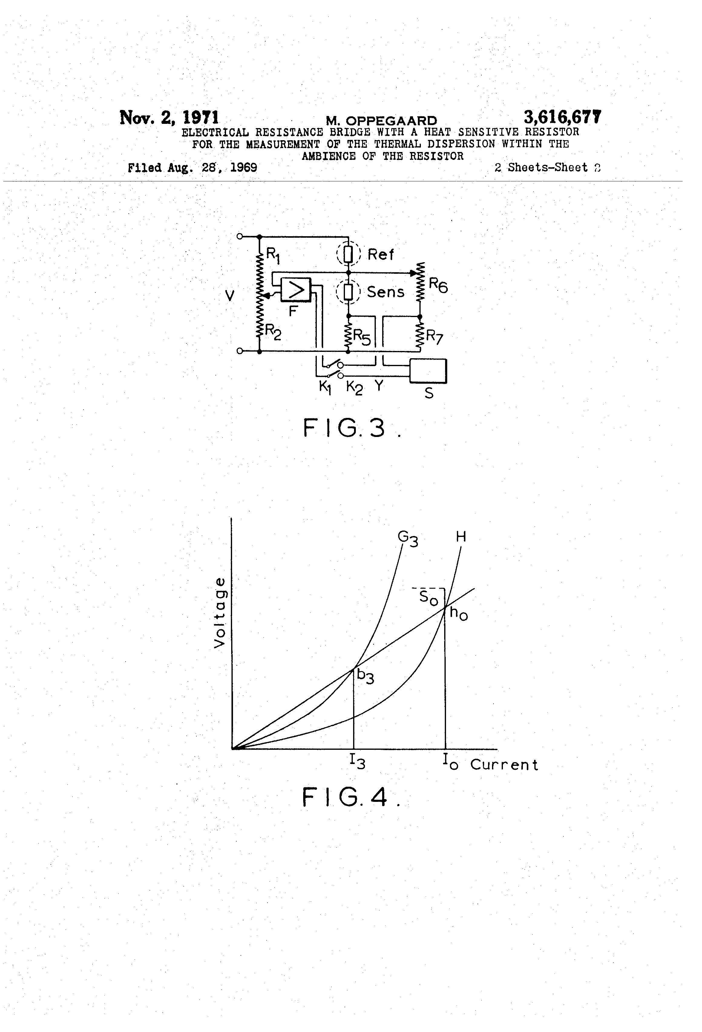 Patent Us3616677 Electrical Resistance Bridge With A Heat And Resistors Drawing