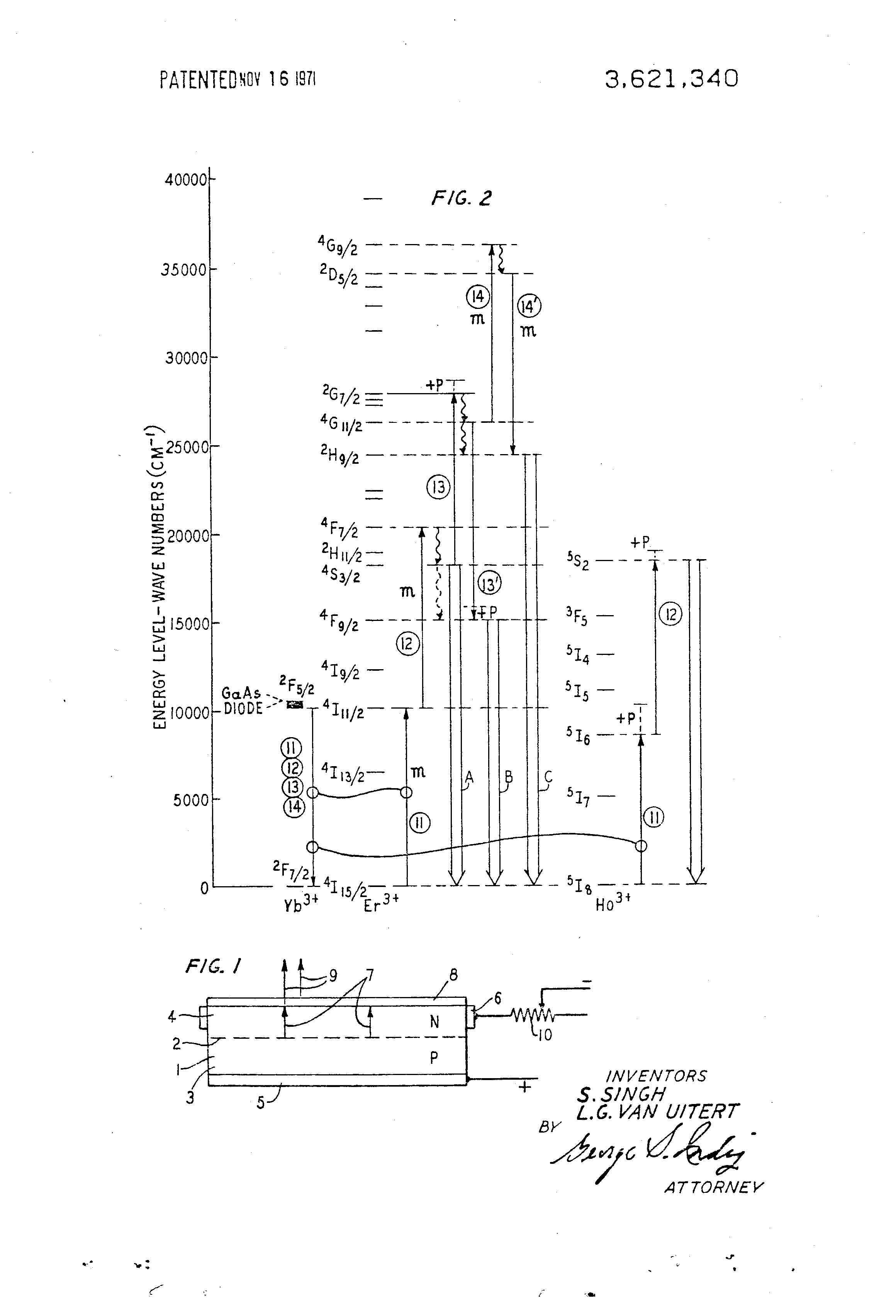 Patent Us3621340 Gallium Arsenide Diode With Up Converting Gaas Doping Process Drawing