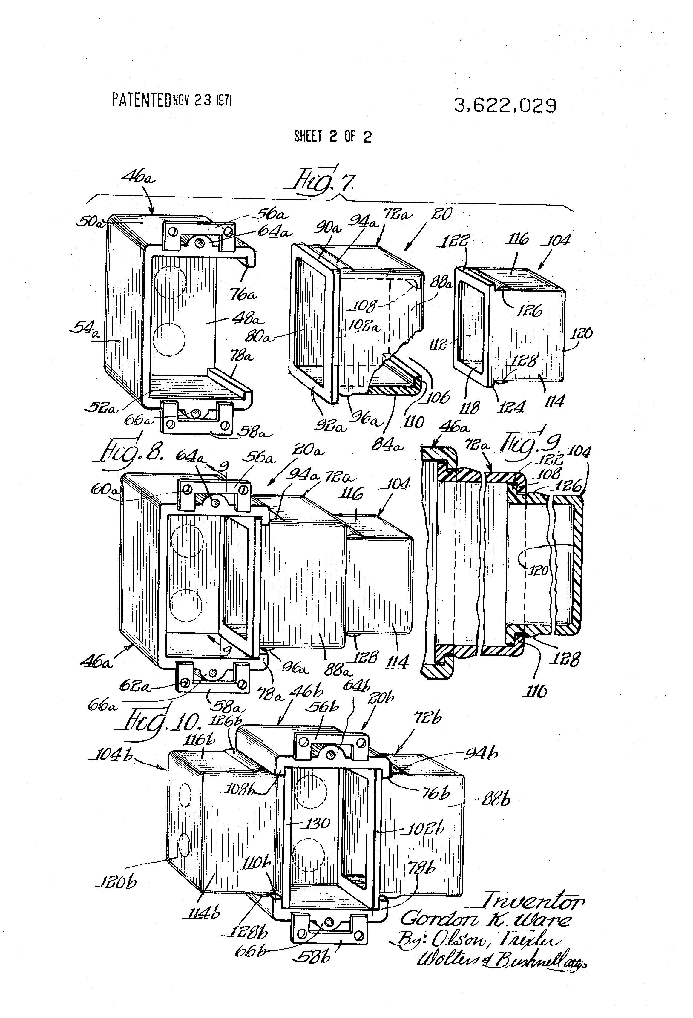 Patent Us3622029 Electrical Outlet Box Google Patents
