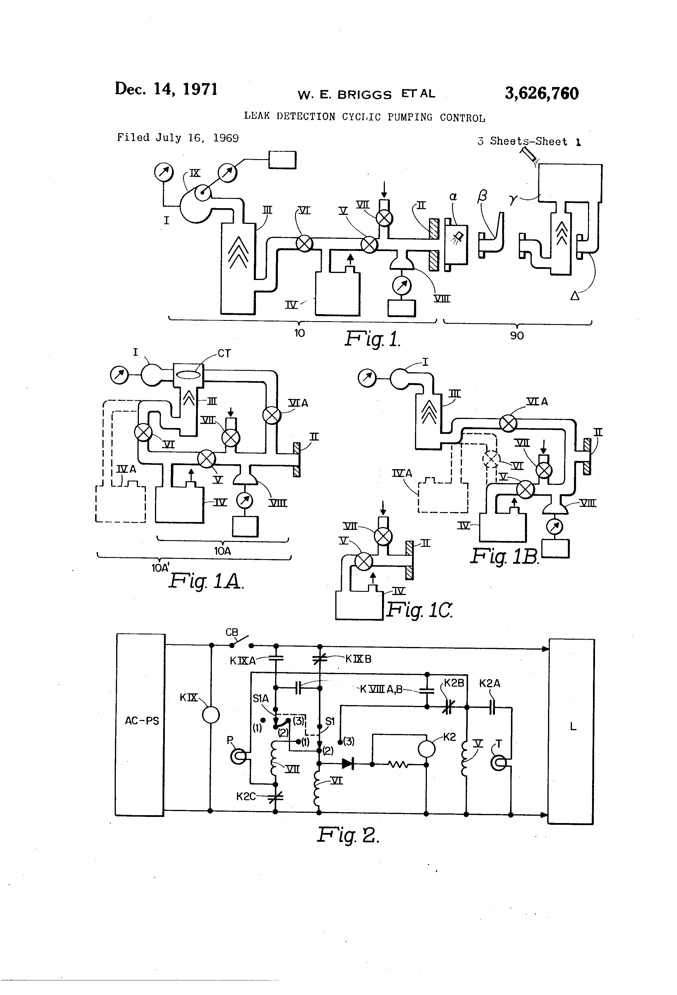 Patent Us3626760 Leak Detection Cyclic Pumping Control Google Relay Wiring Diagram Drawing