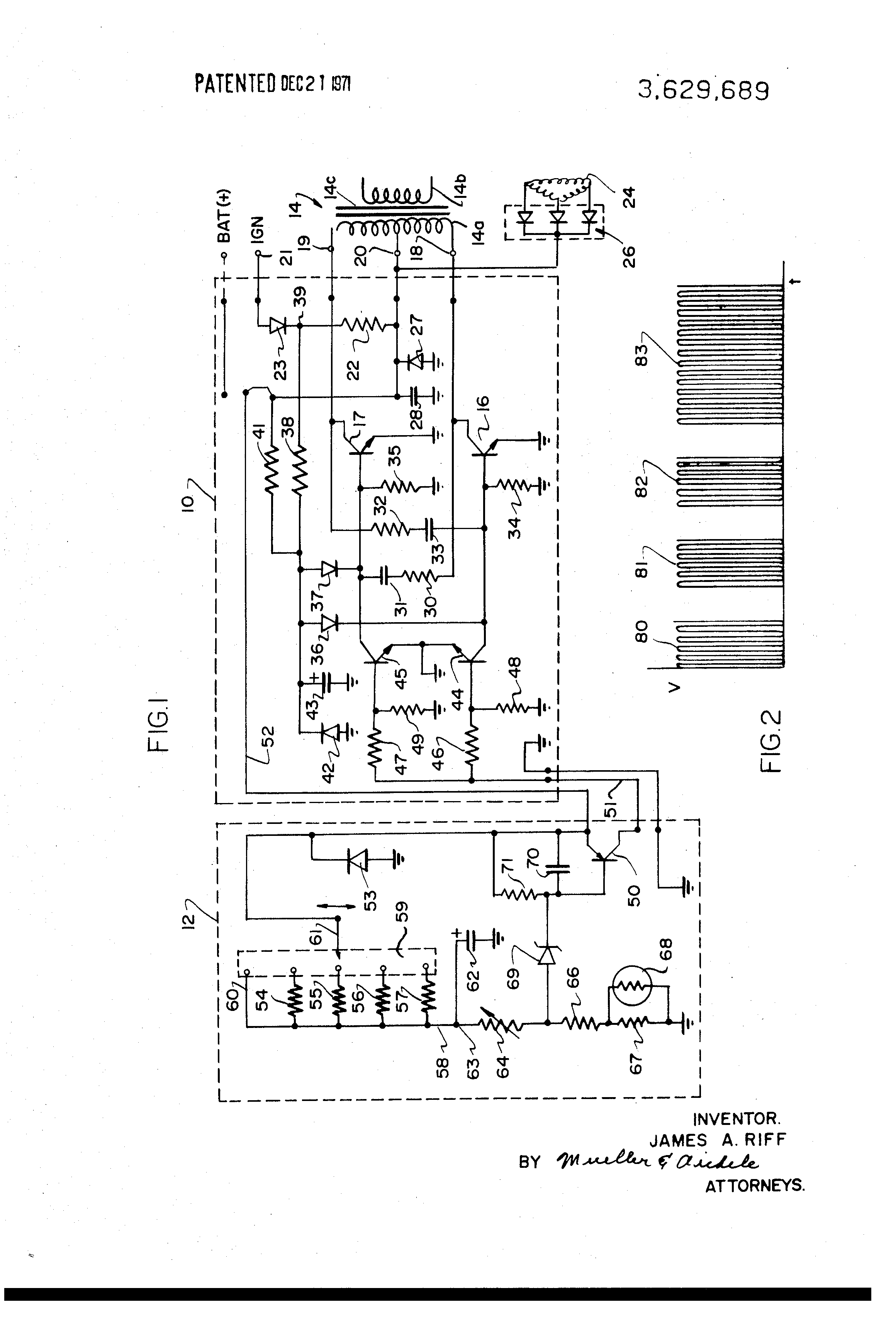 Patent Us3629689 Voltage Regulator For Brushless Alternators Stator Control Of An Induction Motor Circuit Globe Drawing