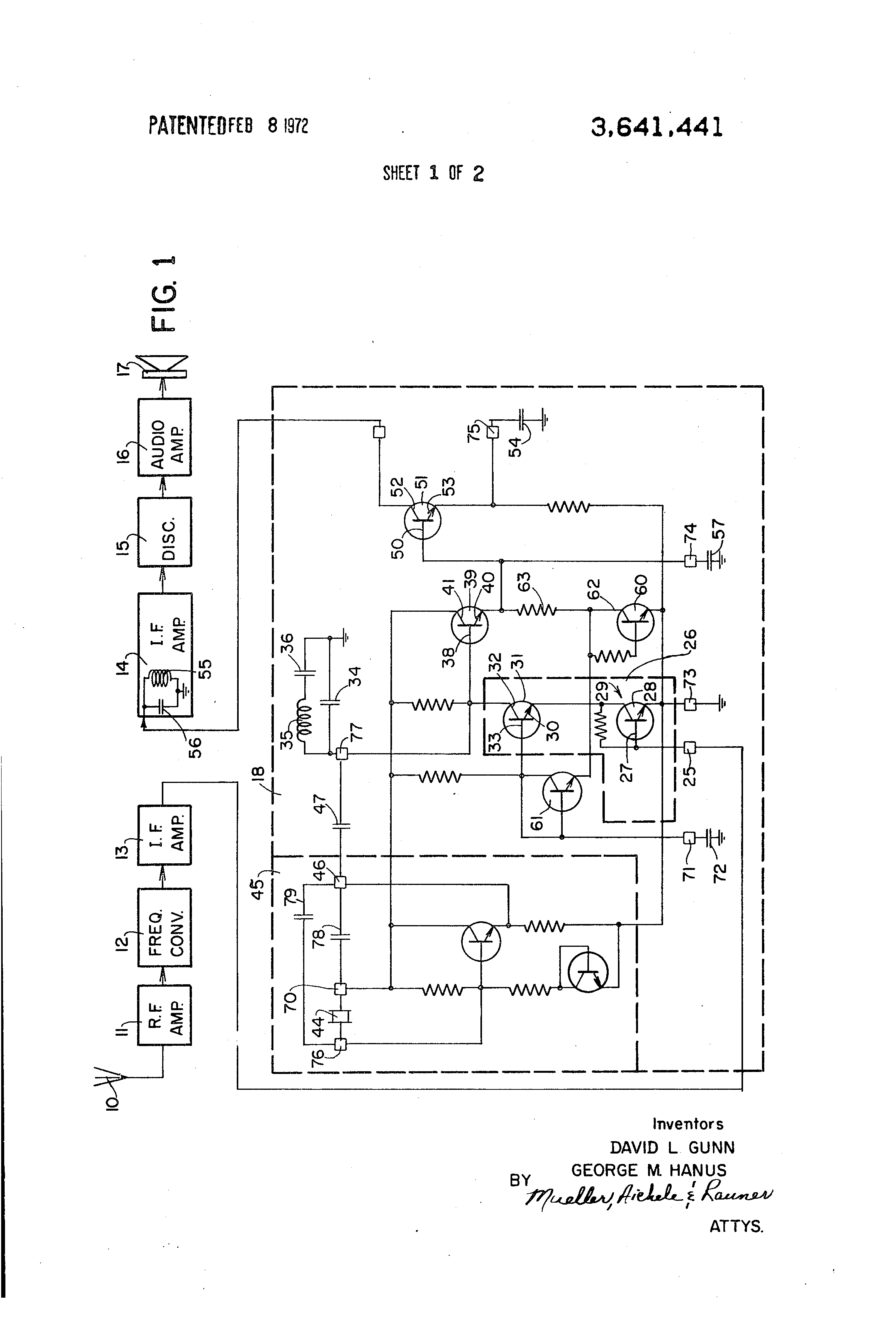 Patent Us3641441 Frequency Conversion Module Including Emitter Follower Circuit Drawing