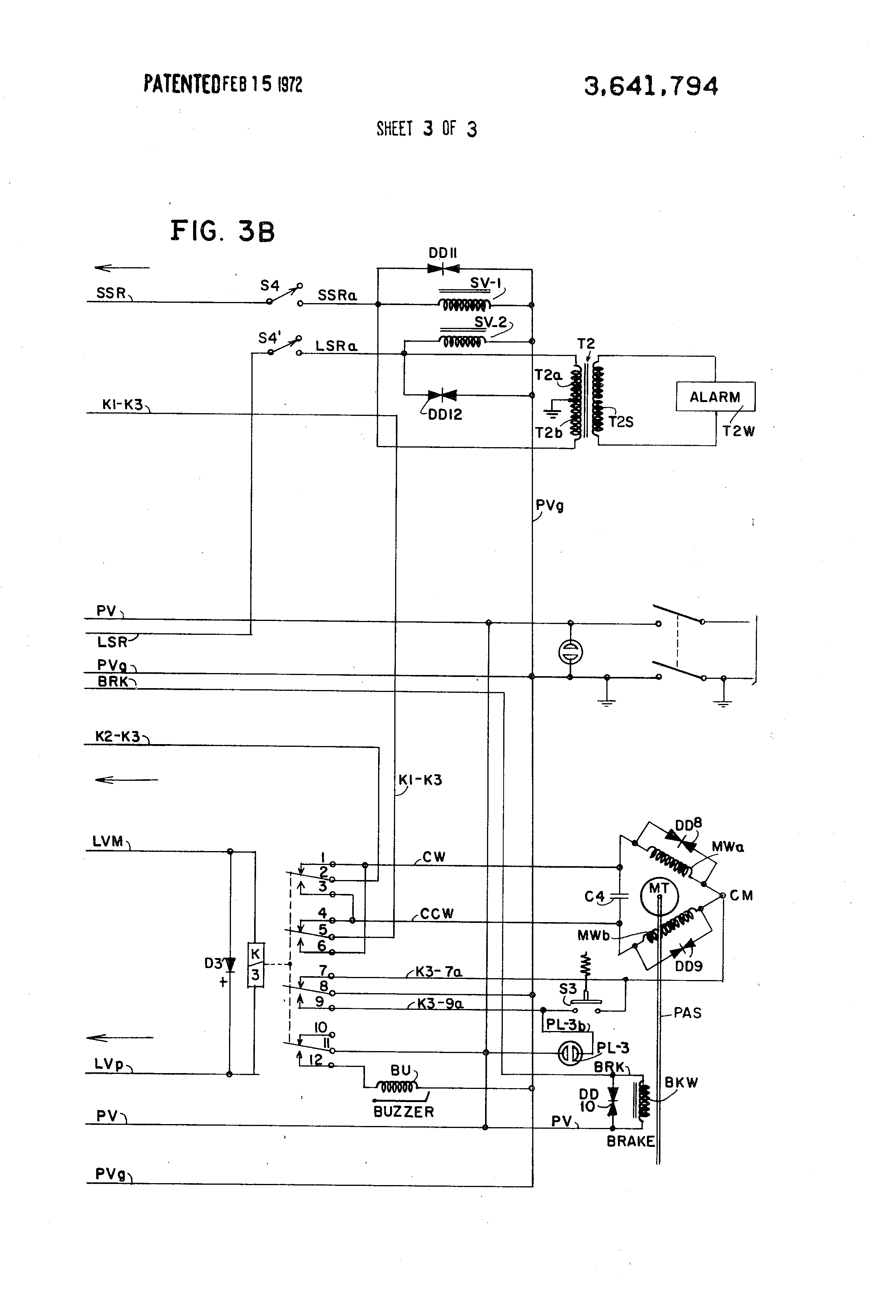 US3641794 3 true t 23 wiring diagram true refrigeration, true t 23f, true t true t23f wiring diagram at bayanpartner.co