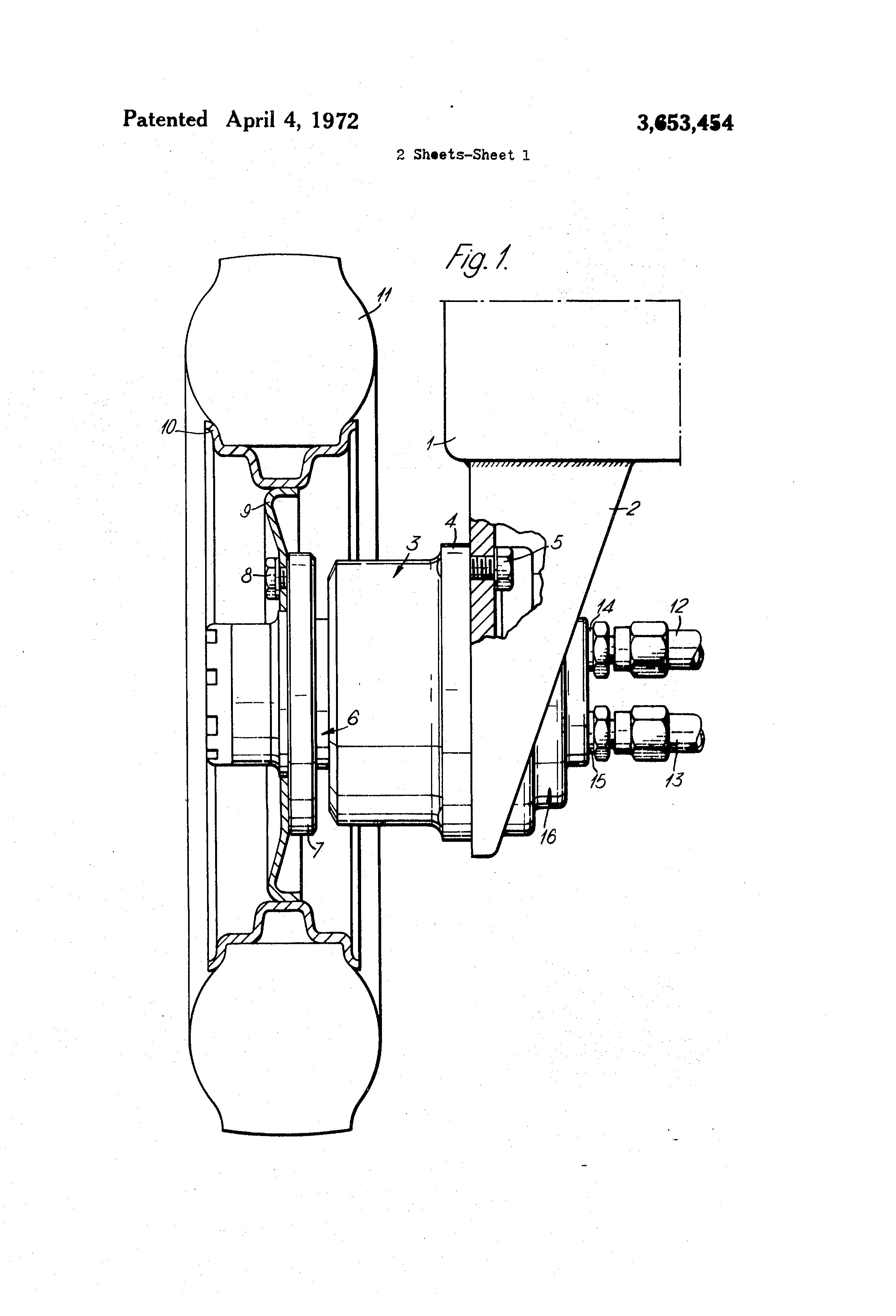Hydraulic Wheel Drive System : Patent us wheel drive system incorporating a